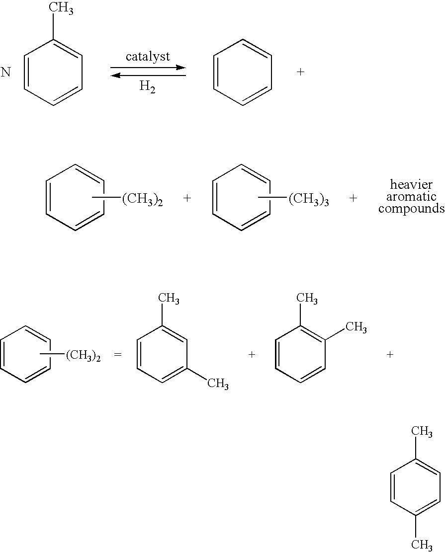 Us8013202b2 Method For Separating Aromatic Compounds Using Process Flow Diagram Of Xylene Figure Us08013202 20110906 C00001