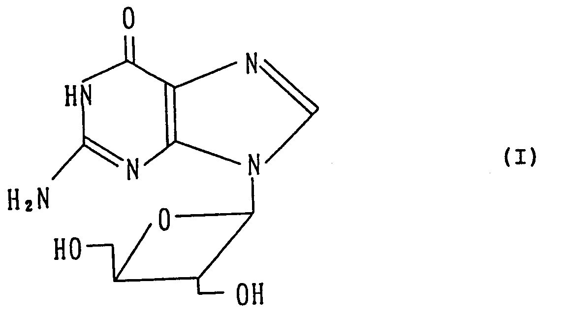 A 9 2 Deoxy Hydroxymethyl D Erythrooxetanocyl Guanine Oxetanocin G Represented By The Following Formula I