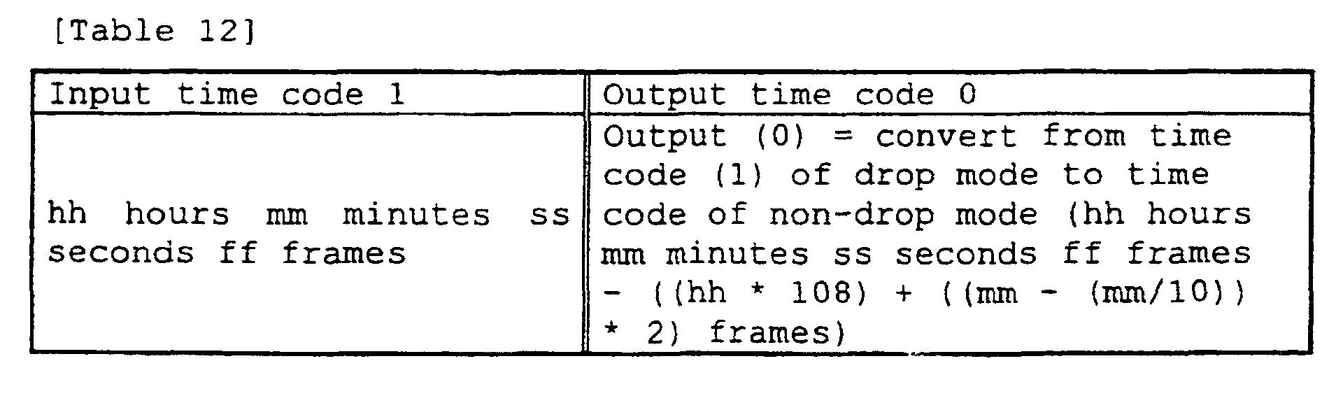 EP1078367B1 - Time code arithmetic apparatus - Google Patents