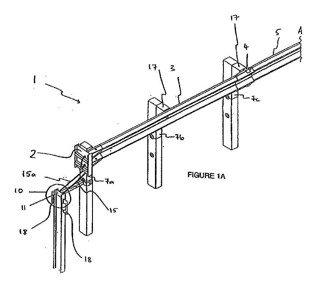 EP2006451A3 - Guardrail - Google Patents
