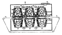KR910005959B1 - Reflow soldering device - Google Patents