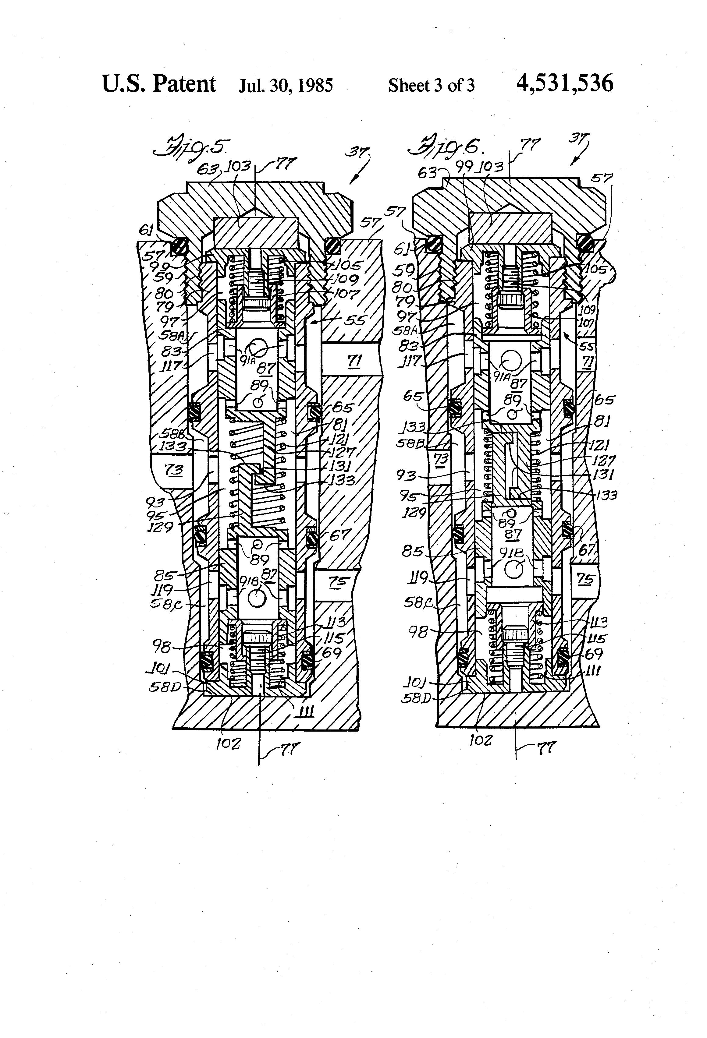 Figure E4 Fifth Wheel Hydraulic Diagram Lowering