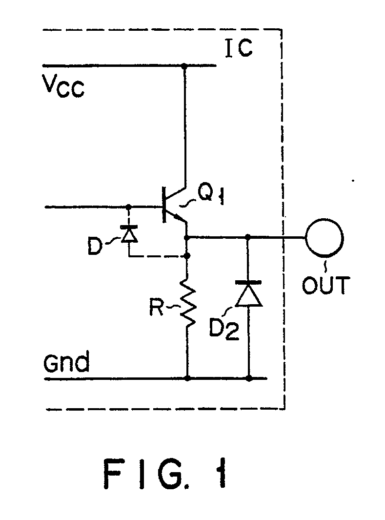 Ep0388896a2 Buffer Circuit With An Electrostatic Protector Diagram Of A Darlington Pair Using Npn Transistors Figure Imgaf001
