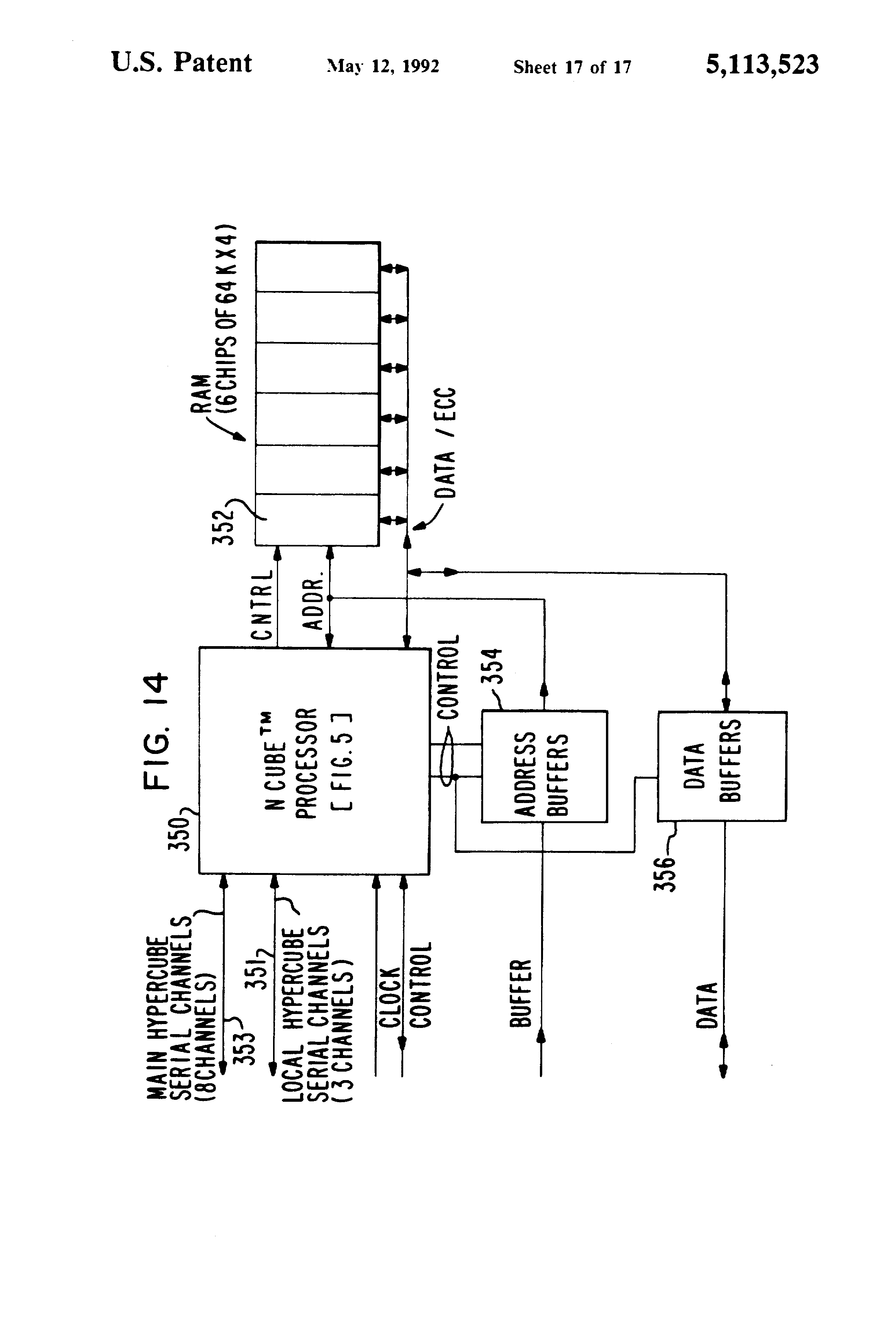 US5113523A - High performance computer system - Google Patents