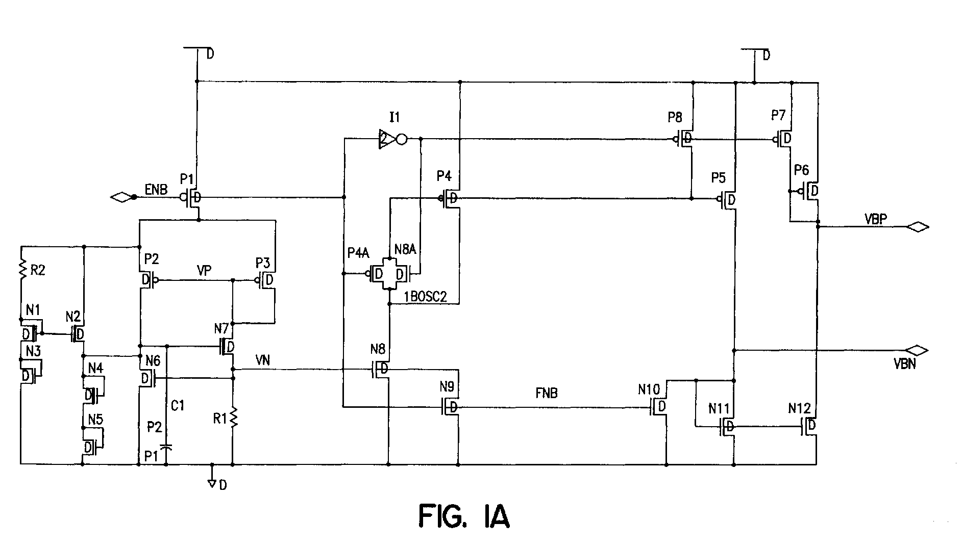 Ep0834981a2 Mos Charge Pump Generation And Regulation Method Circuit To Use Nmosfet Instead Of Pmosfet Electrical Engineering Figure 00000001