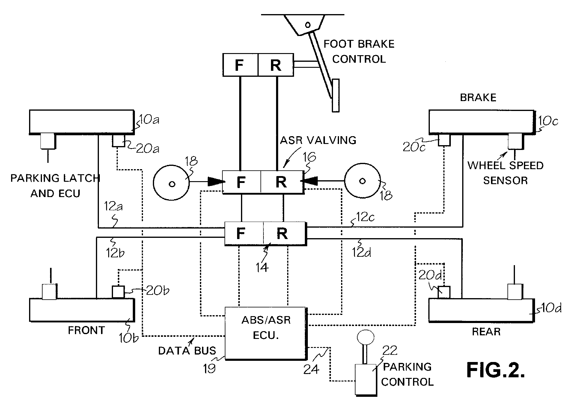 Ep0995659a1 Parking Braking In Vehicles Having Conventional Citroen C8 Abs Wiring Diagram Figure 00000001