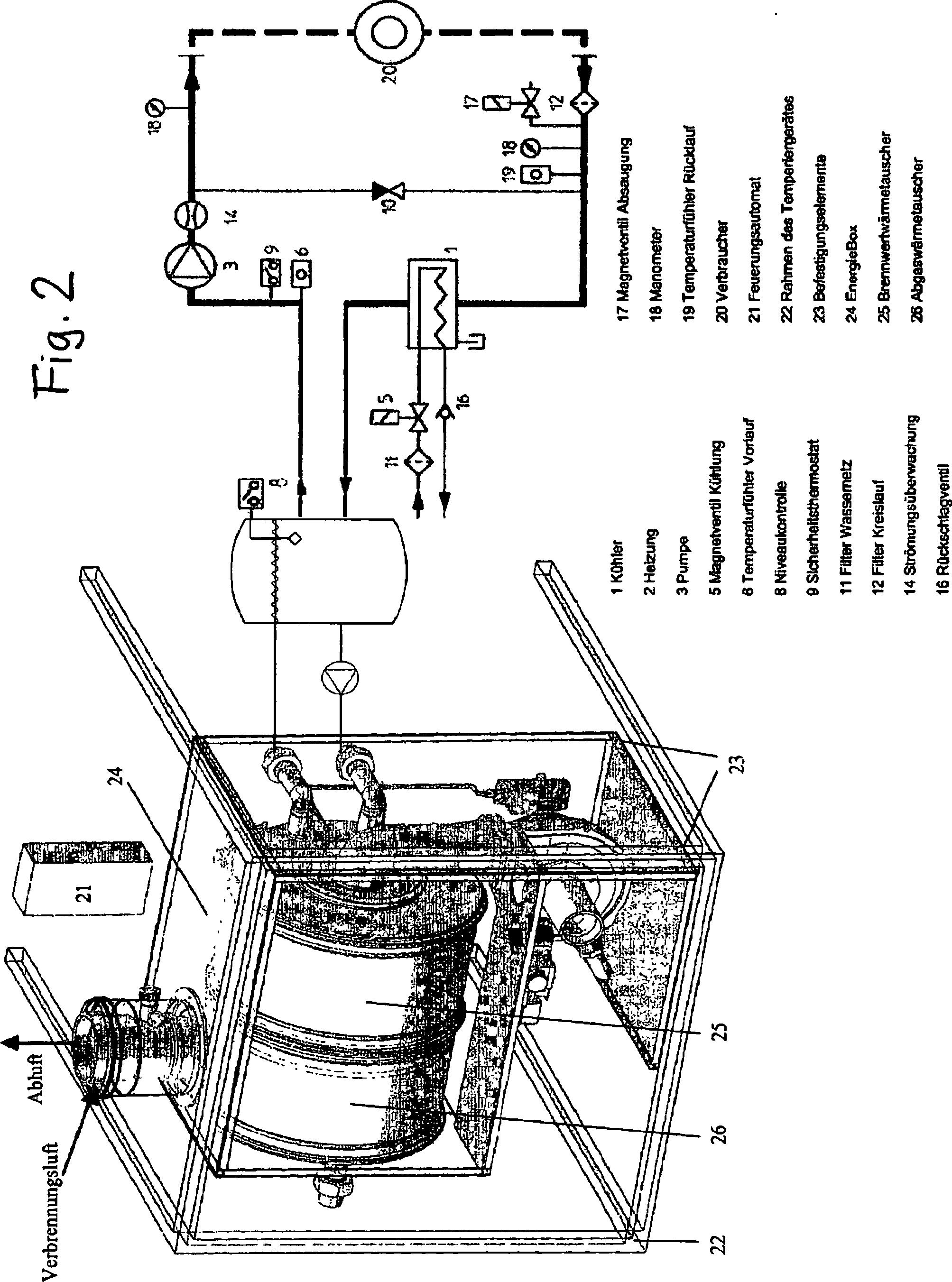 patent de102009049124a1 gasbeheizter durchlauferhitzer und temperierger t mit einem. Black Bedroom Furniture Sets. Home Design Ideas