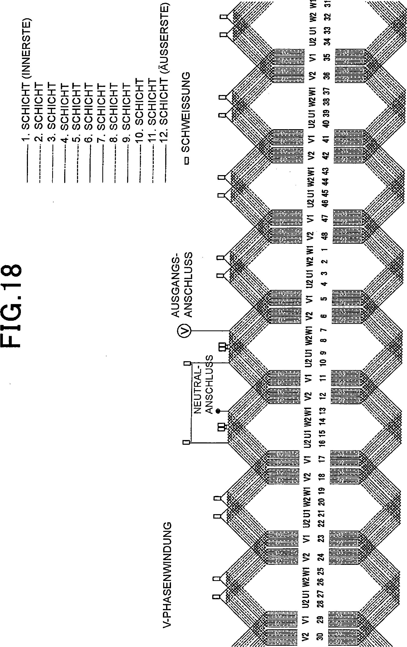 Patent DE102011000172A1 - Stator für eine drehende elektrische ...