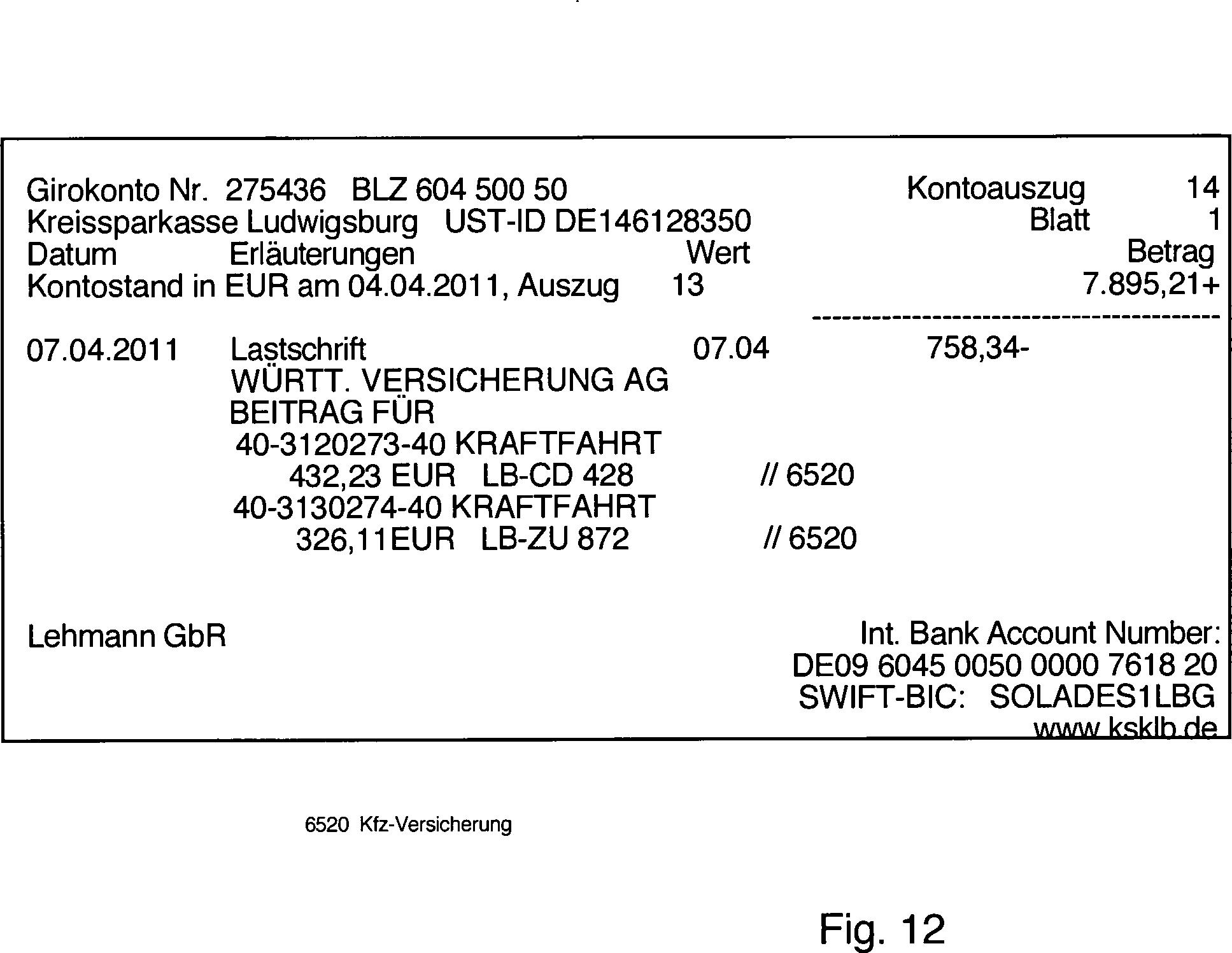 patent de102012009644a1 automatische buchf hrung. Black Bedroom Furniture Sets. Home Design Ideas