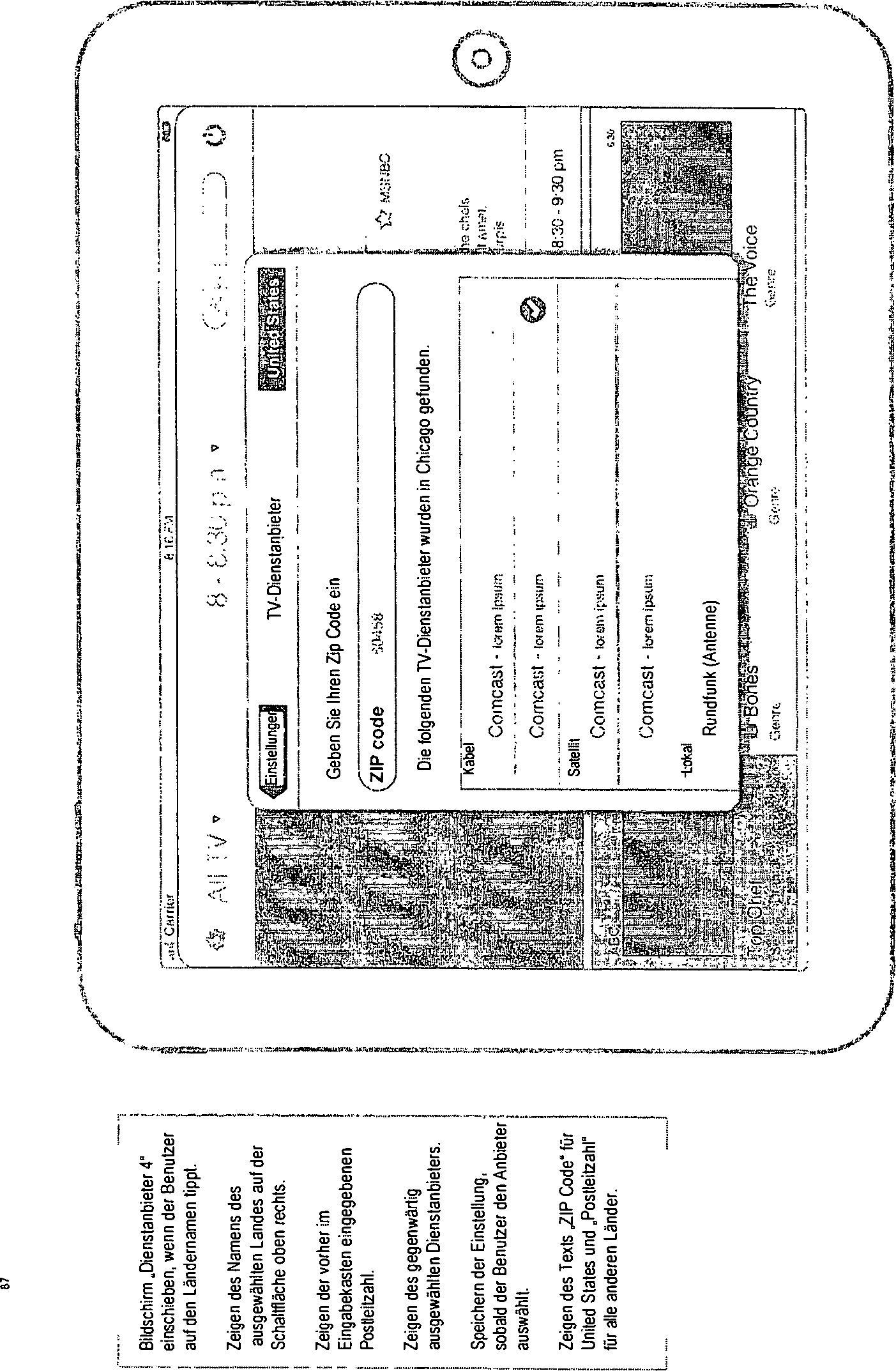 DE102012212514A1 - Remote user interface for handset - Google Patents