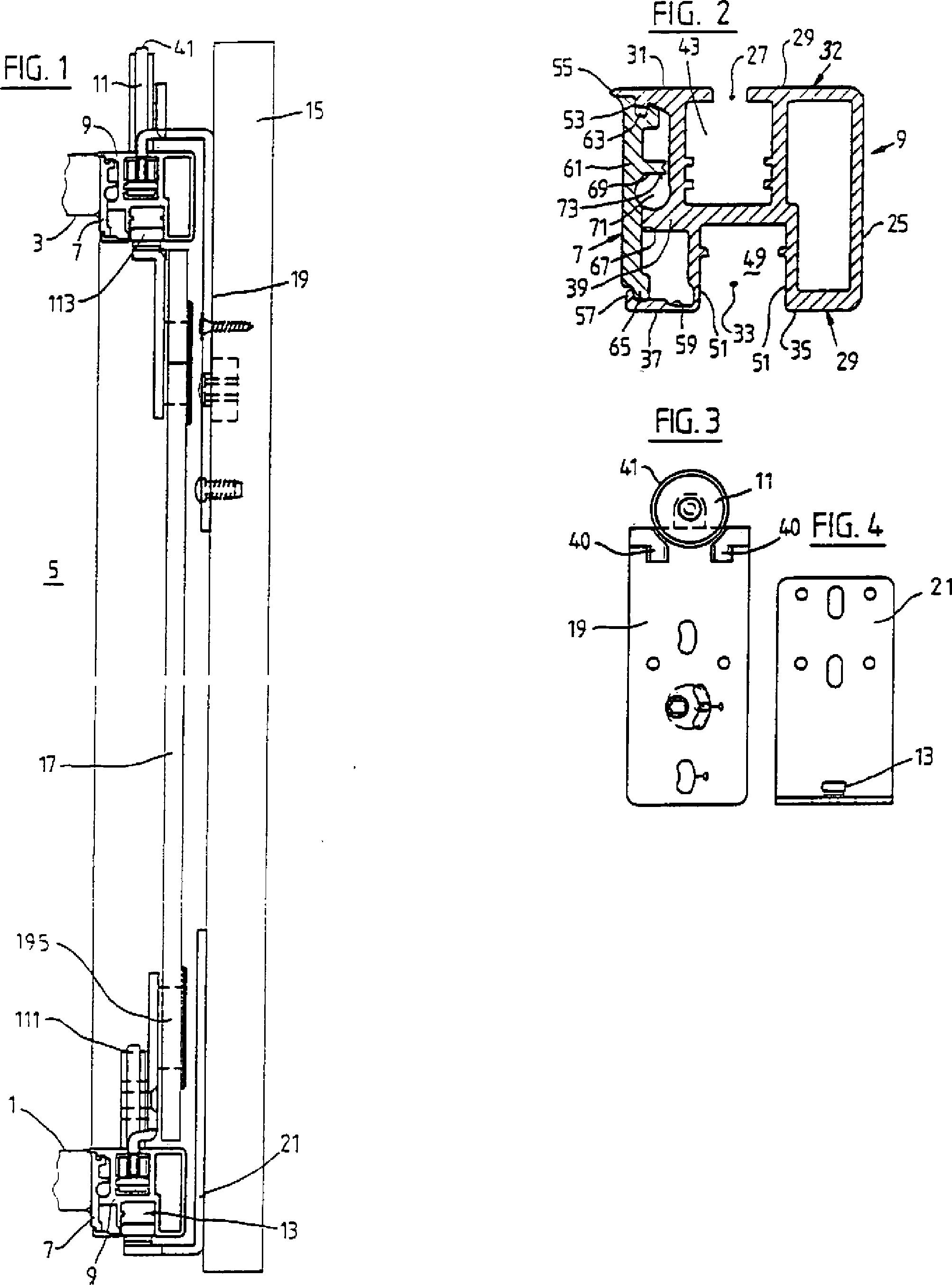 patent de19742780c5 laufrollen und f hrungsanordnung. Black Bedroom Furniture Sets. Home Design Ideas