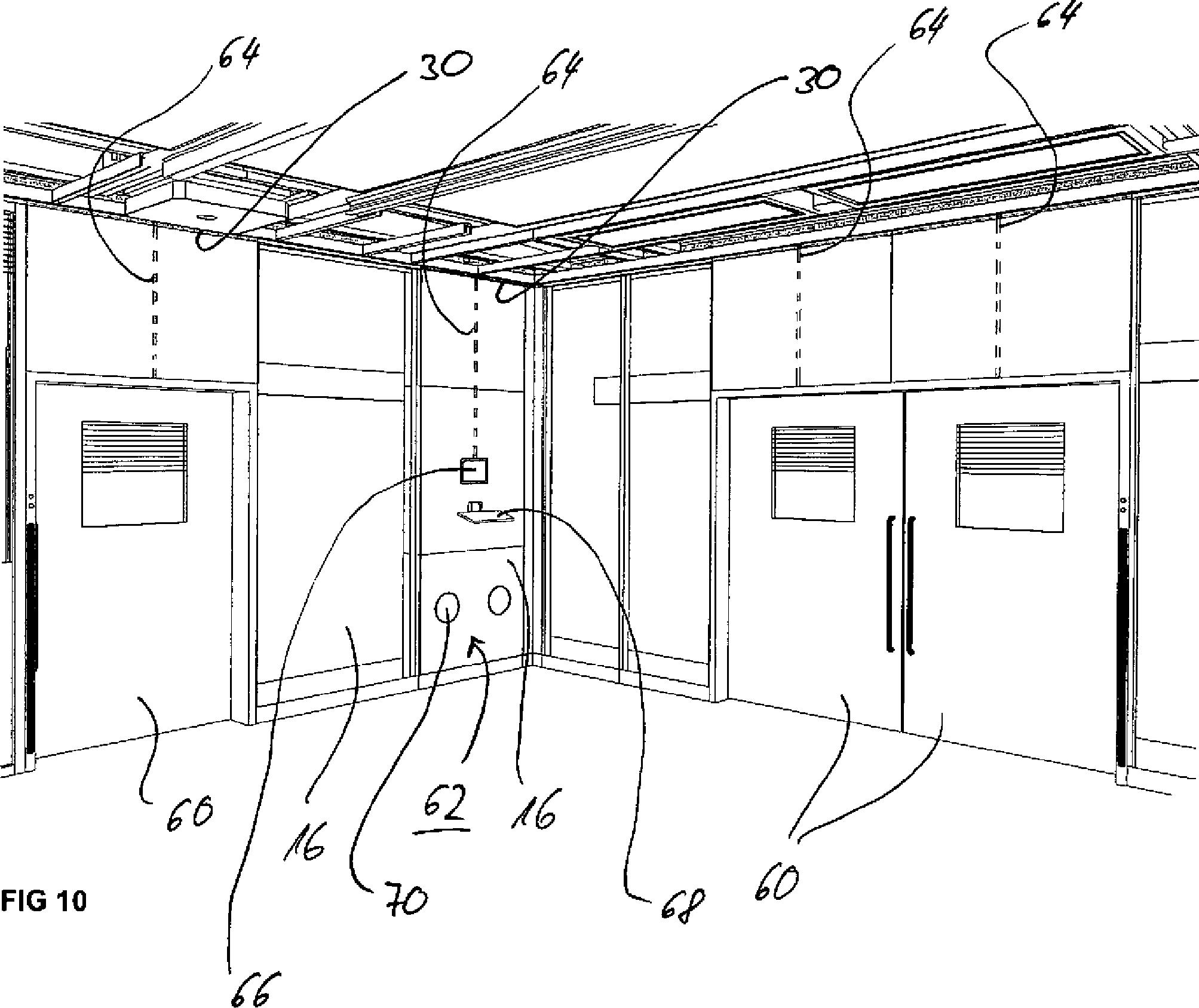patent de202012003175u1 modularer raum in ger stbauweise insbesondere ein operationsraum im. Black Bedroom Furniture Sets. Home Design Ideas