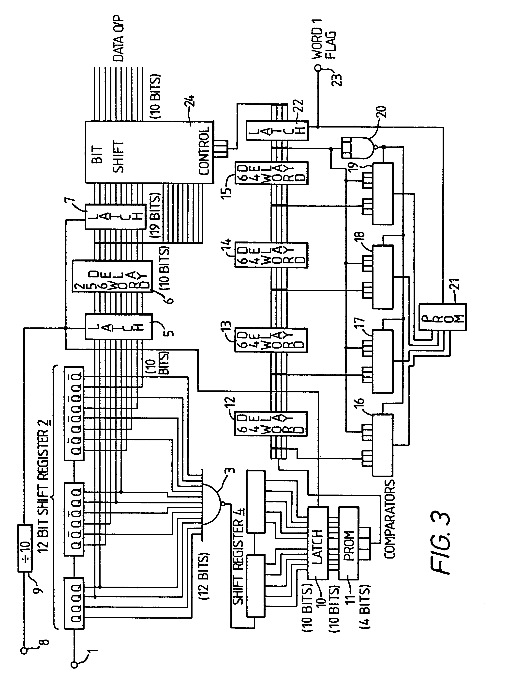 Patent Ep0052432a2 Digital Signal Processing Google Patents Circuit Diagram Of 4 Bit Comparator Drawing