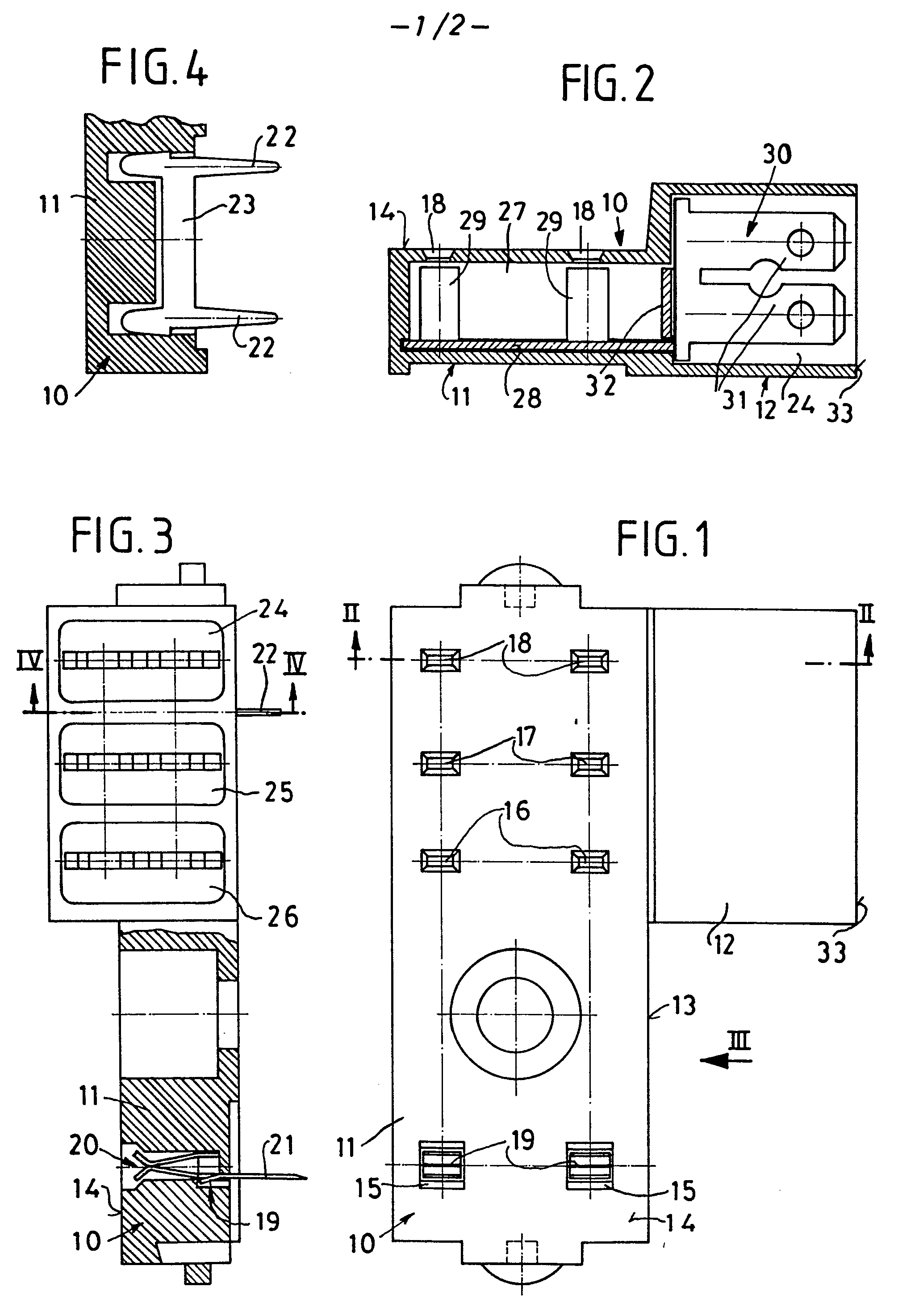 Patent EP0080646A2 - Base for a miniature relay - Google Patents