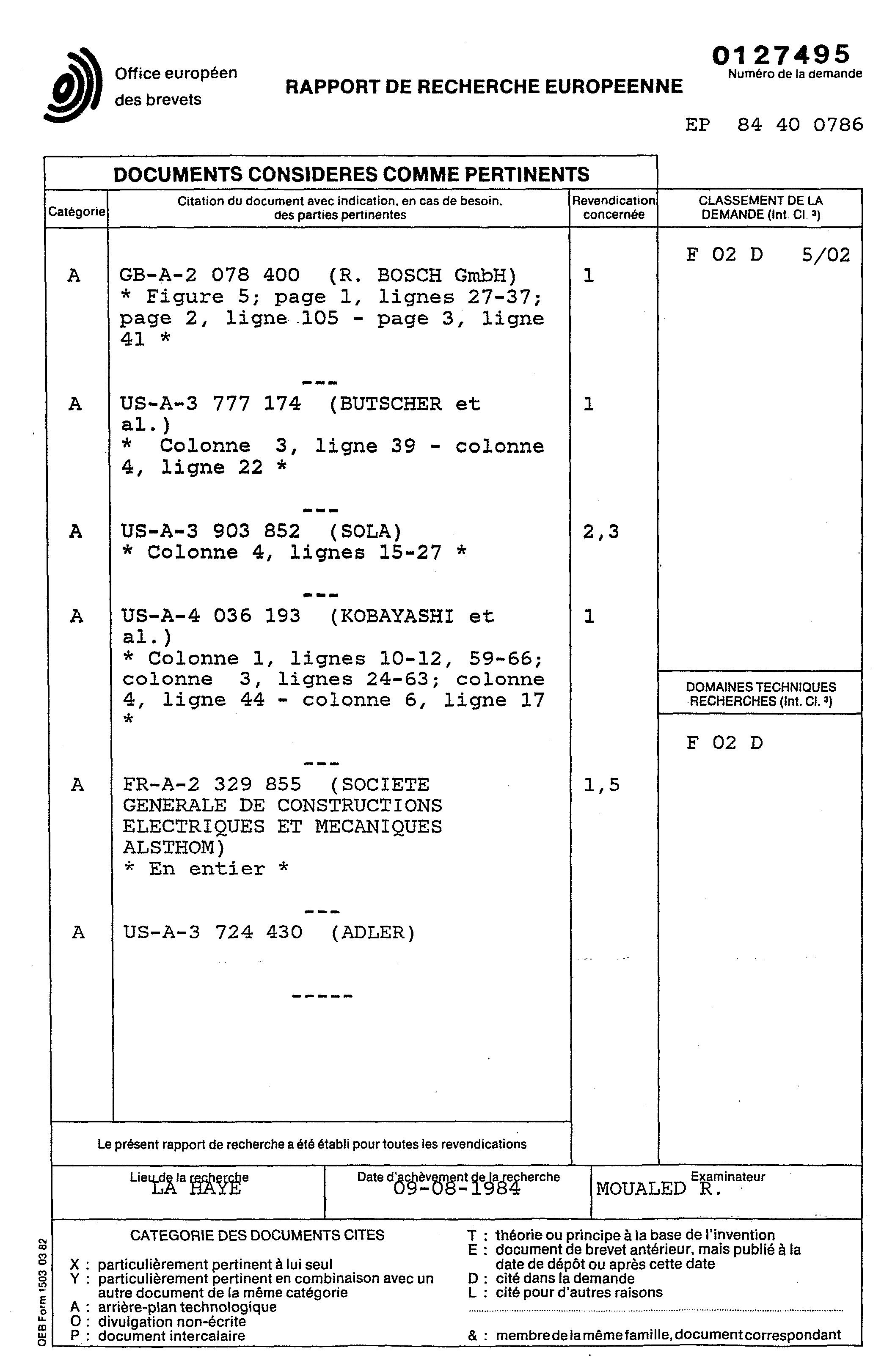 patent ep0127495a1 dispositif d 39 asservissement du r gime d 39 un moteur diesel par r gulation. Black Bedroom Furniture Sets. Home Design Ideas