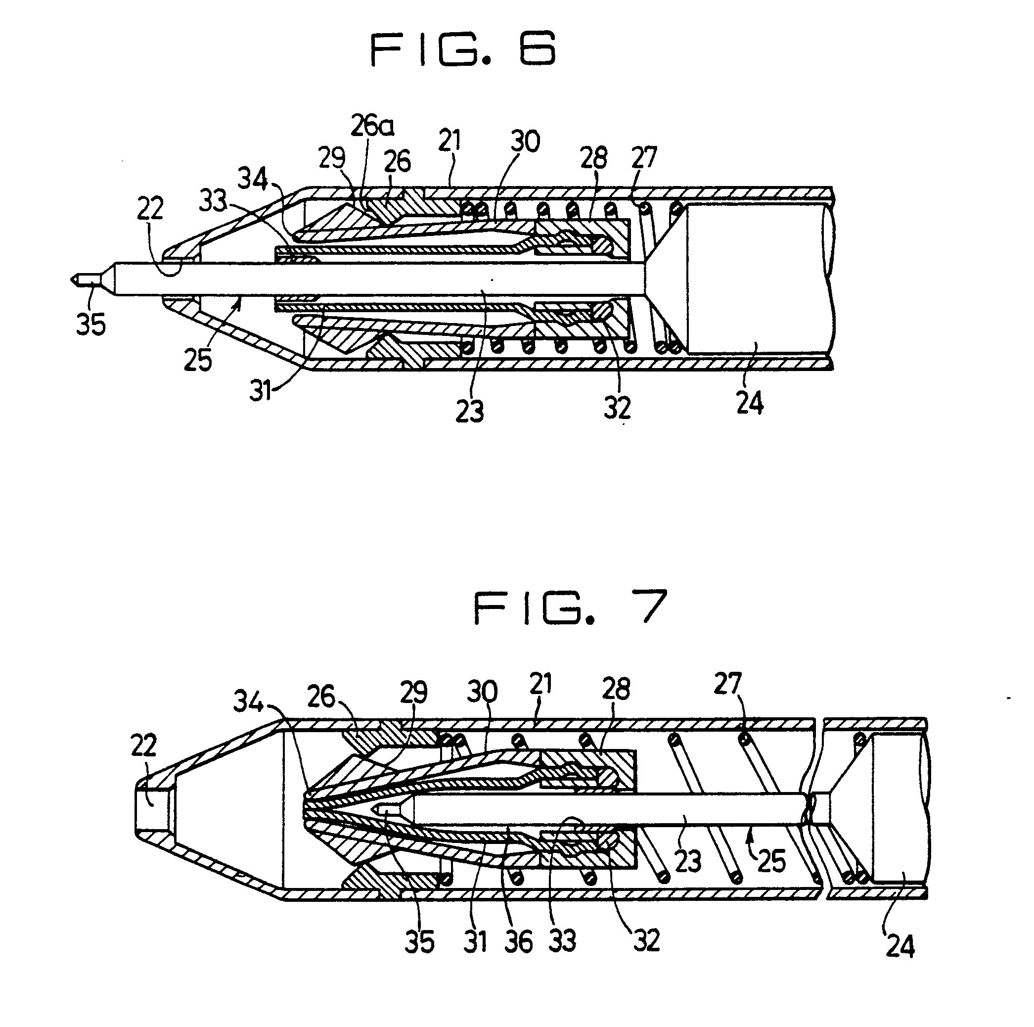Patent Ep0150557b1 Push Button Type Writing Instrument