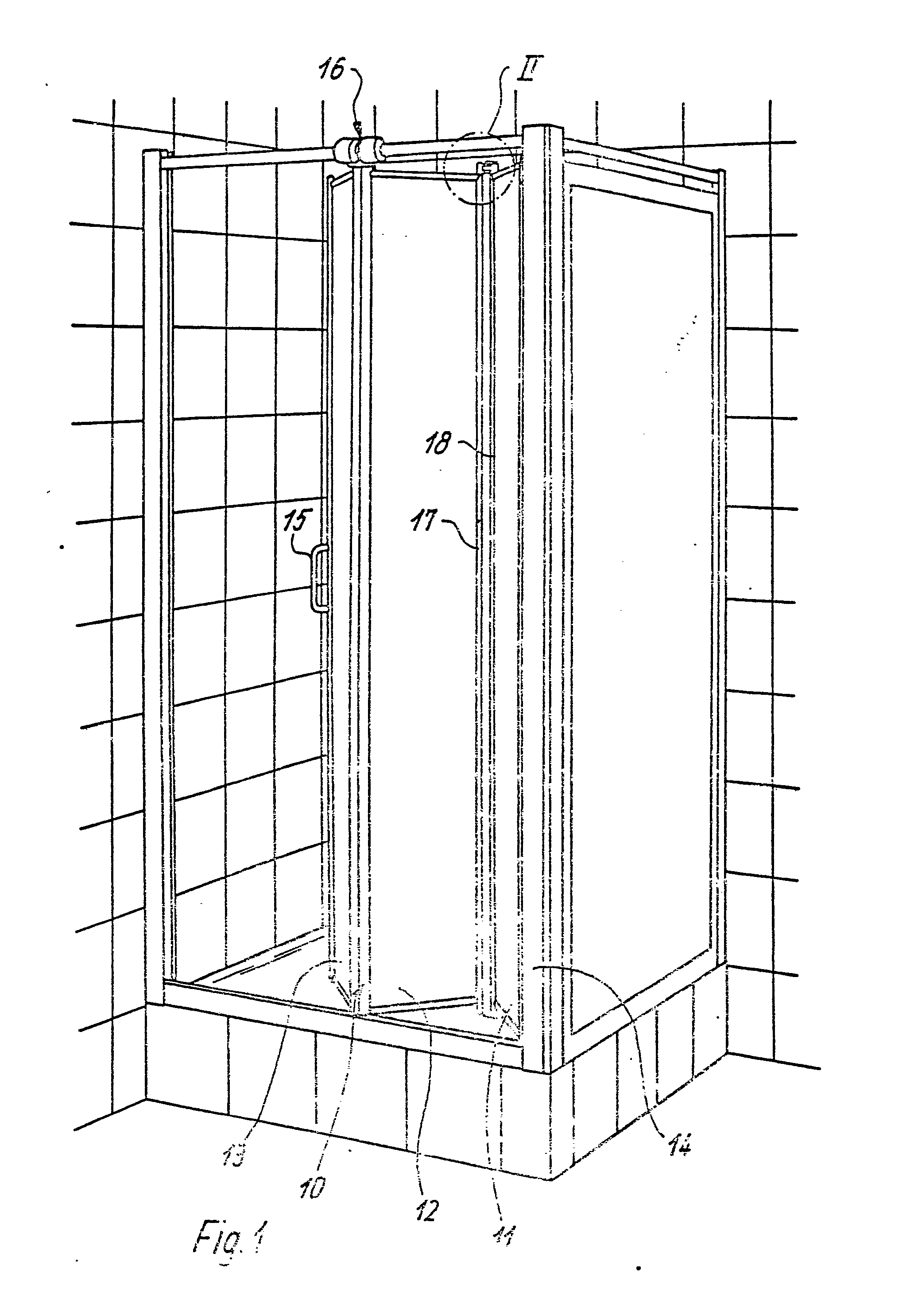 patent ep0194699b1 porte pliante pour cabine de douche. Black Bedroom Furniture Sets. Home Design Ideas