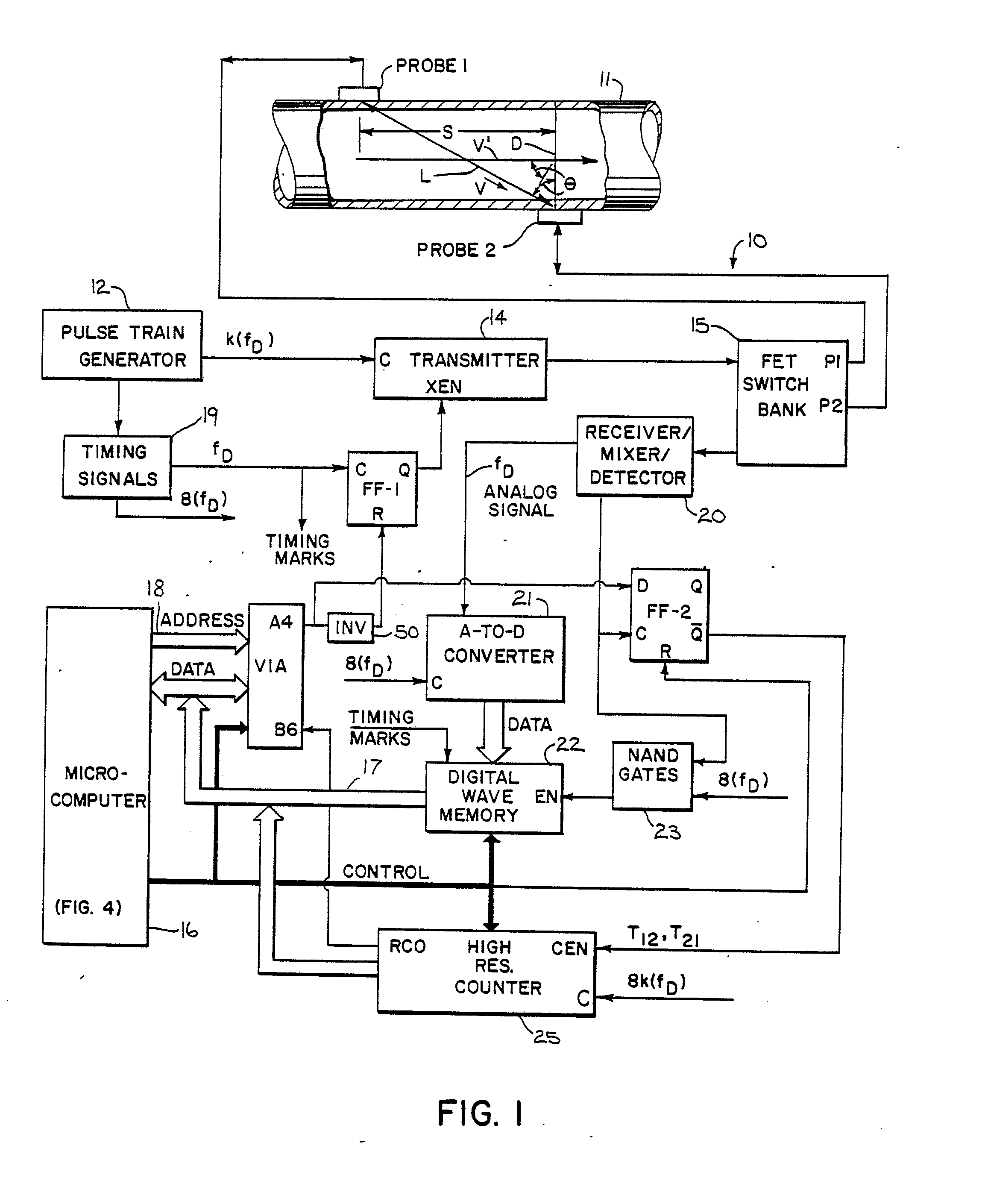 Patent Ep0200896a2 Digital Flow Meter Circuit And Method For 40khz Second Ultrasonic Transmitting The Transistors Drawing