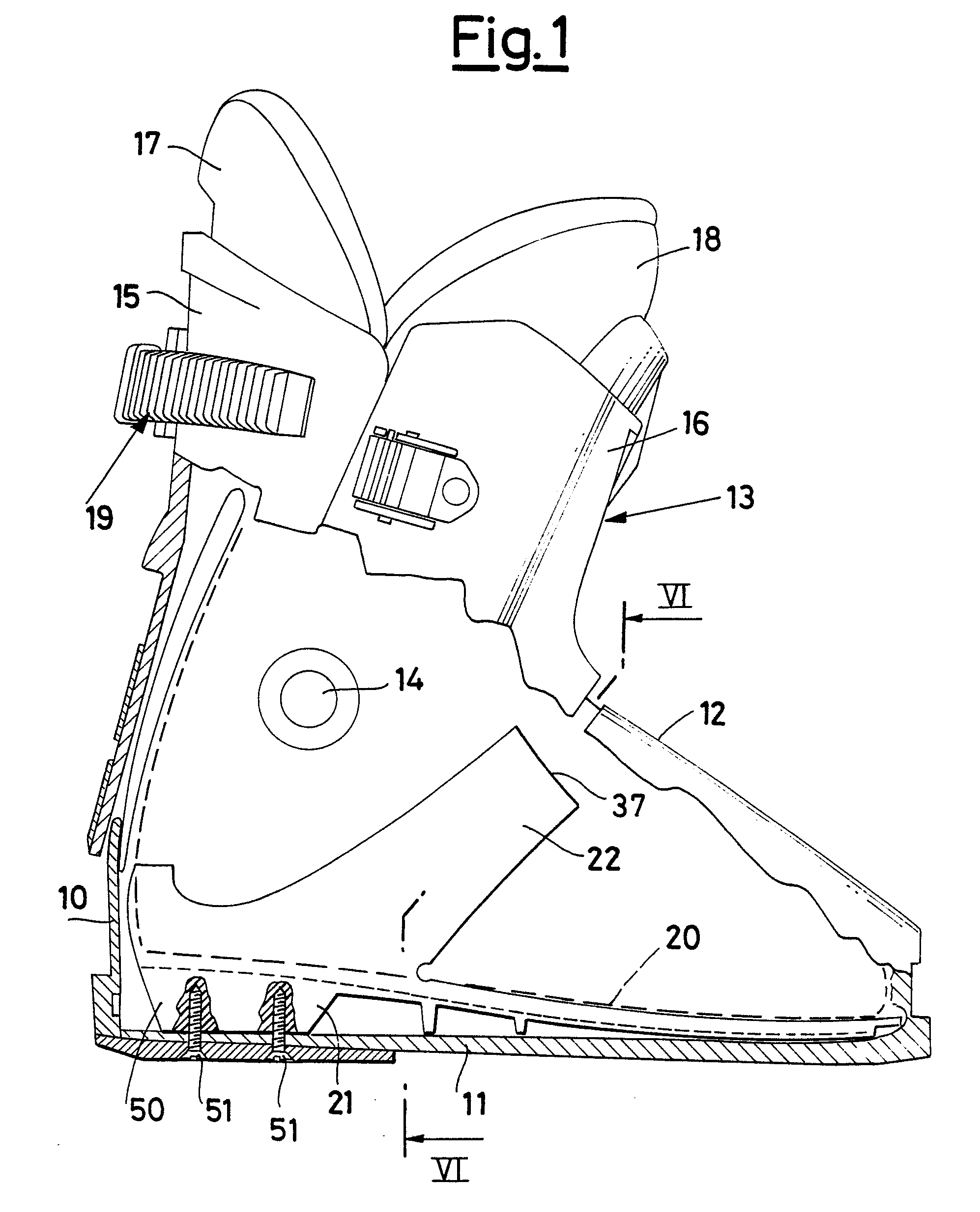 patente ep0252517a2 foot cl ing structure for shoes and boots Anatomy of Heel Pain patent drawing