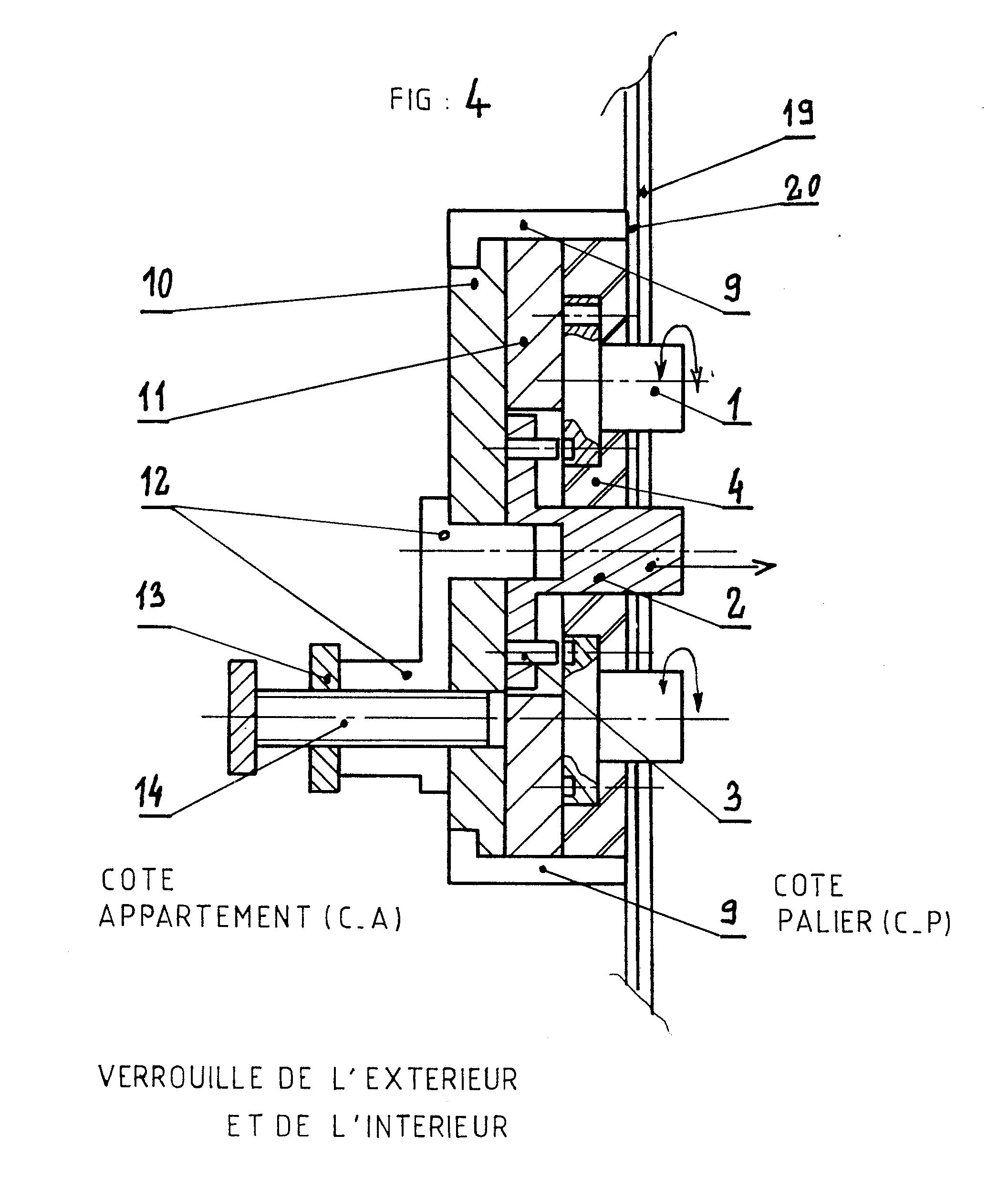 Patent ep0263737a1 serrure sans clef combinaisons for Mecanisme porte pivotante