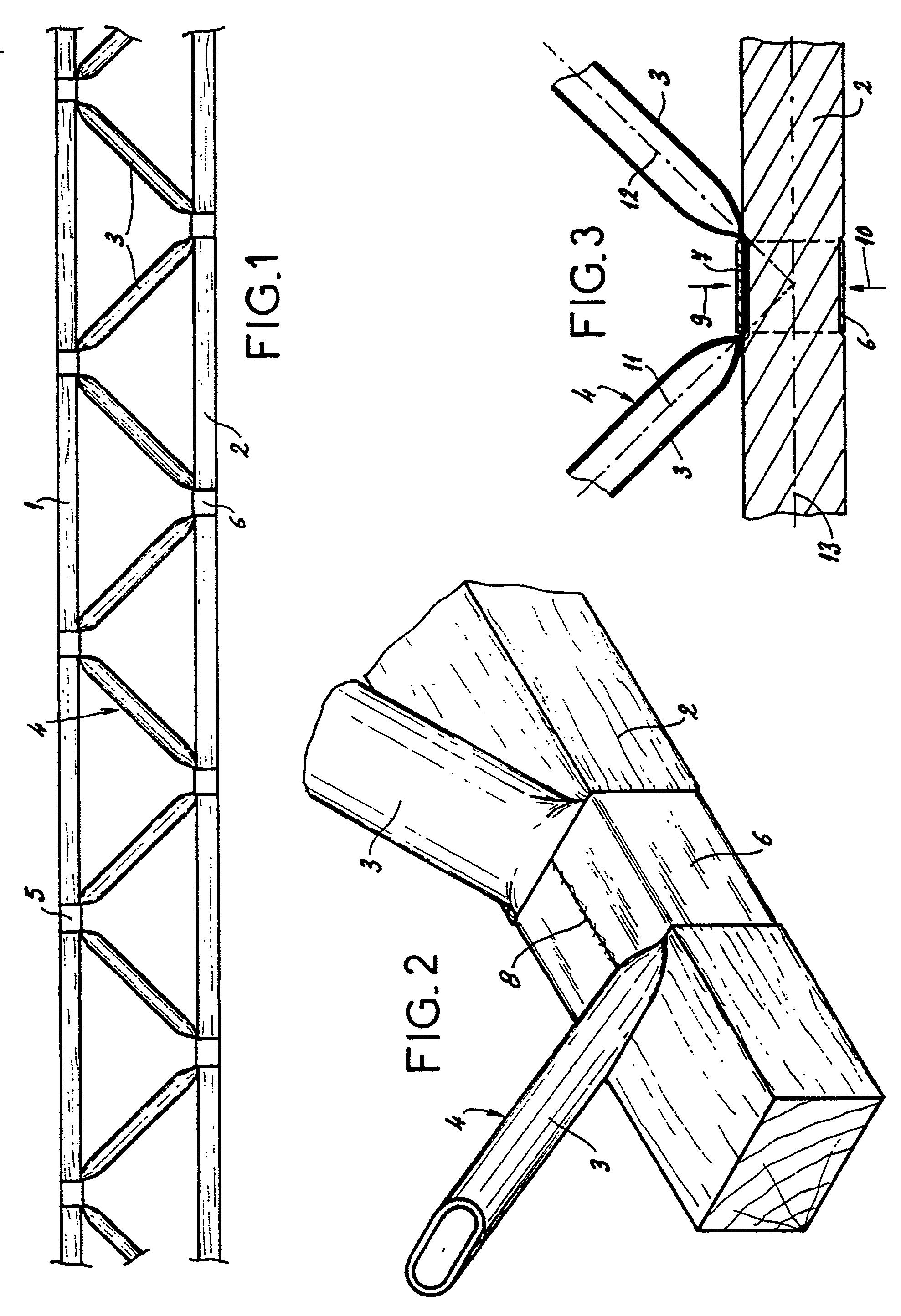 patent ep0282424b1 poutre treillis en bois et m tal. Black Bedroom Furniture Sets. Home Design Ideas