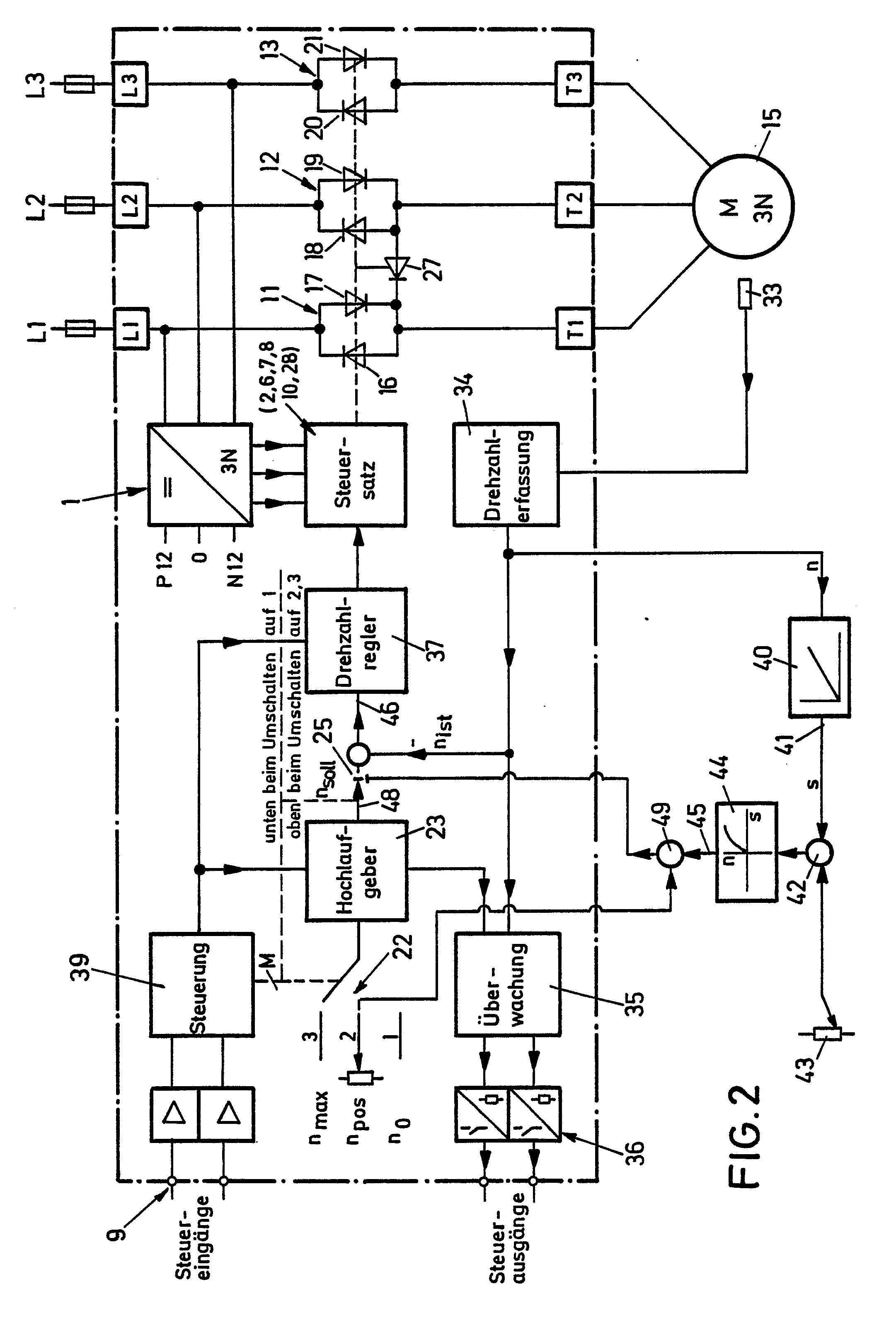 Patent EP0283049A2 - Circuit arrangement for controlling starting ...