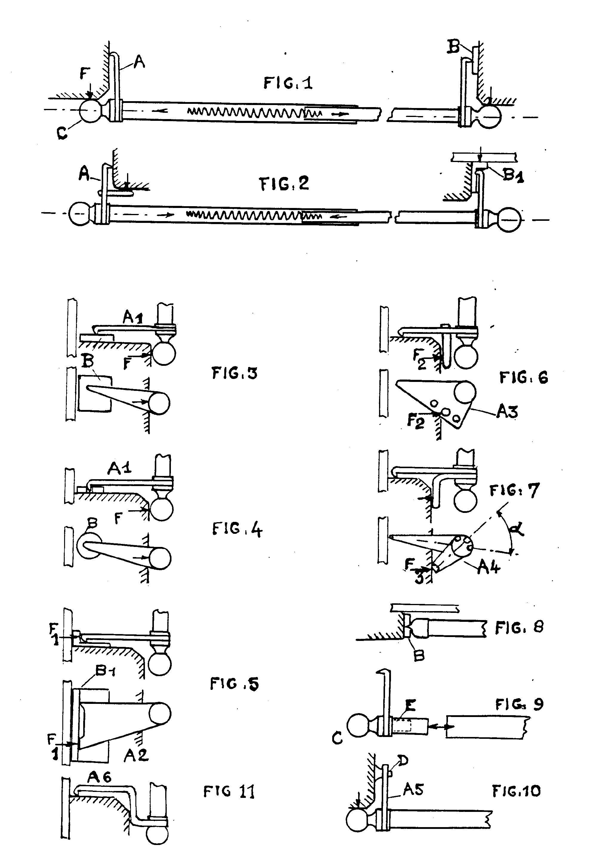 patent ep0314734b1 tringle telescopique a fixation par pression google patents. Black Bedroom Furniture Sets. Home Design Ideas