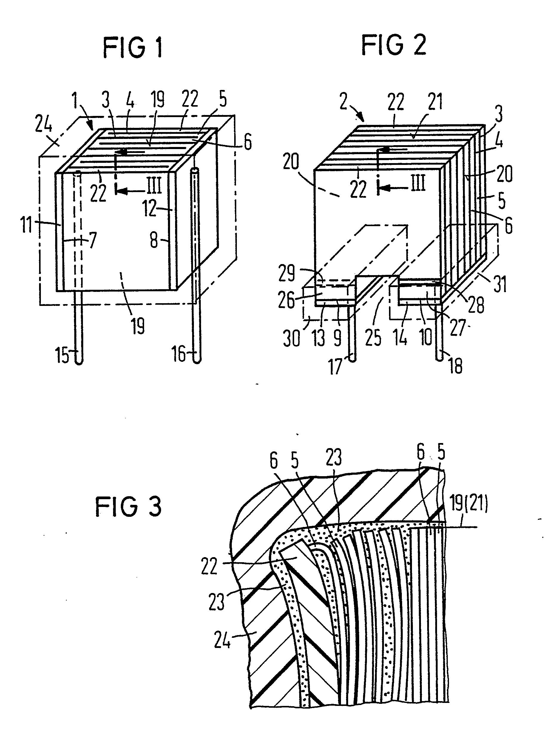 Patent EP0355182A1 - Elektrischer Schichtkondensator und Verfahren ...