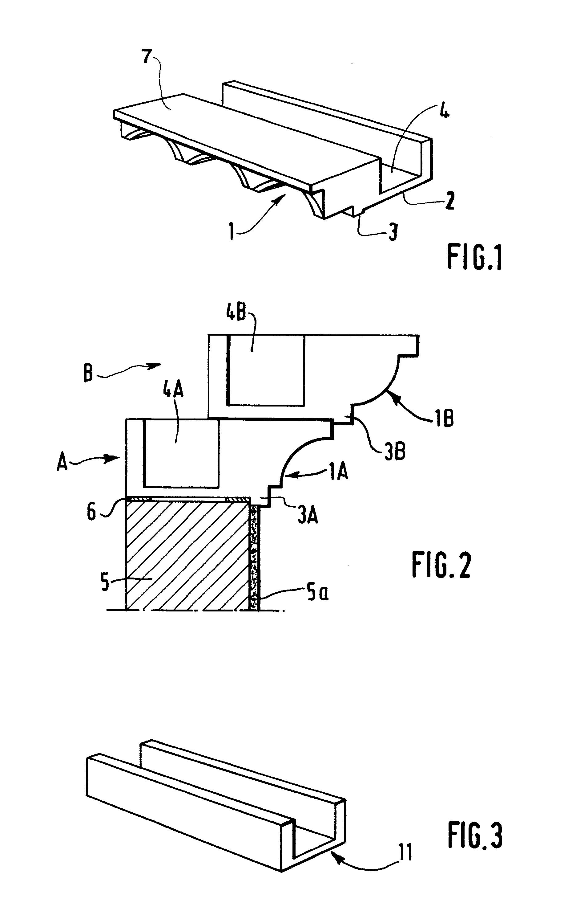 patent ep0356297a1 corniche pr fabriqu e pour b timent. Black Bedroom Furniture Sets. Home Design Ideas