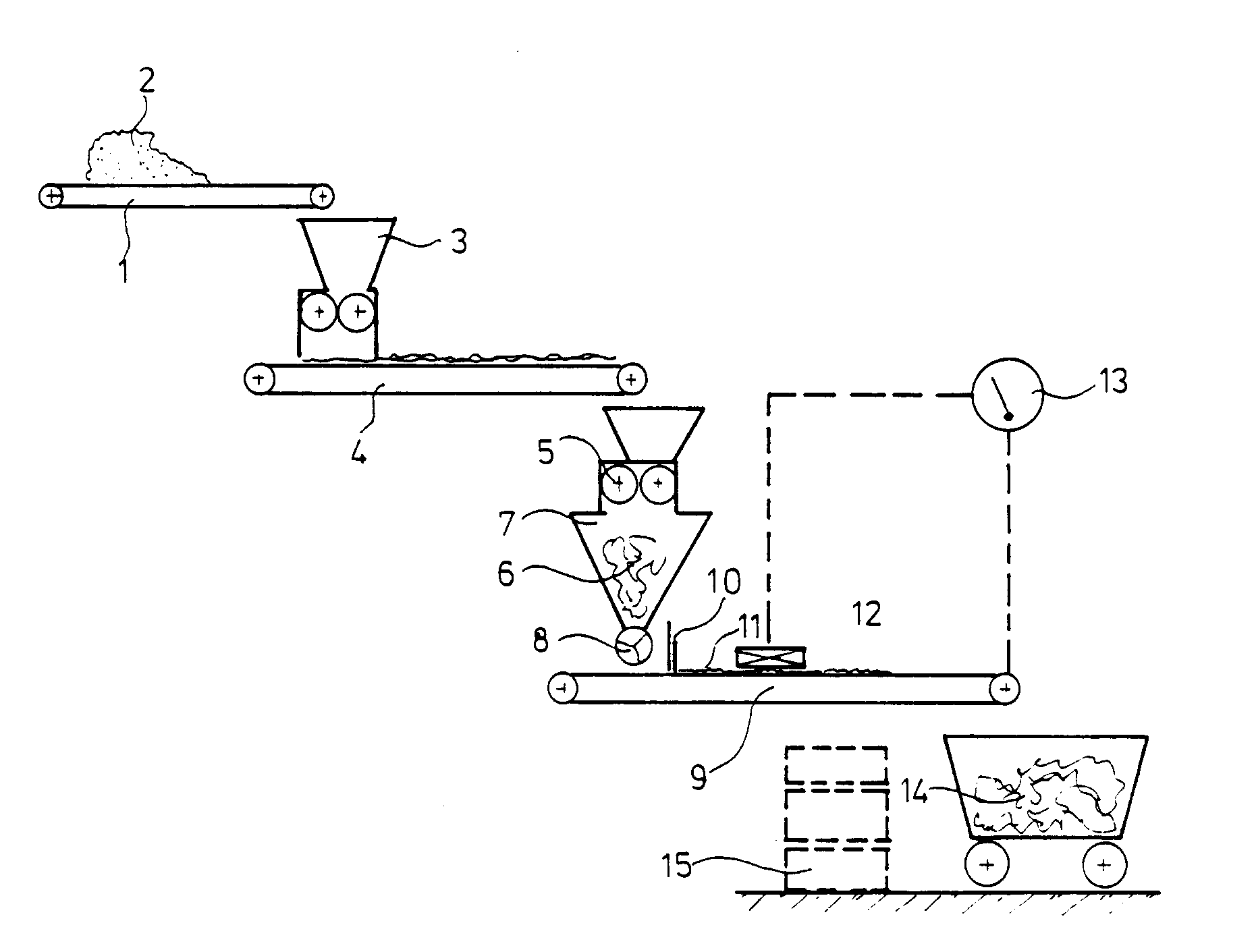 Patent EP0381834B1 - Process for the disposal and reuse of partially ...