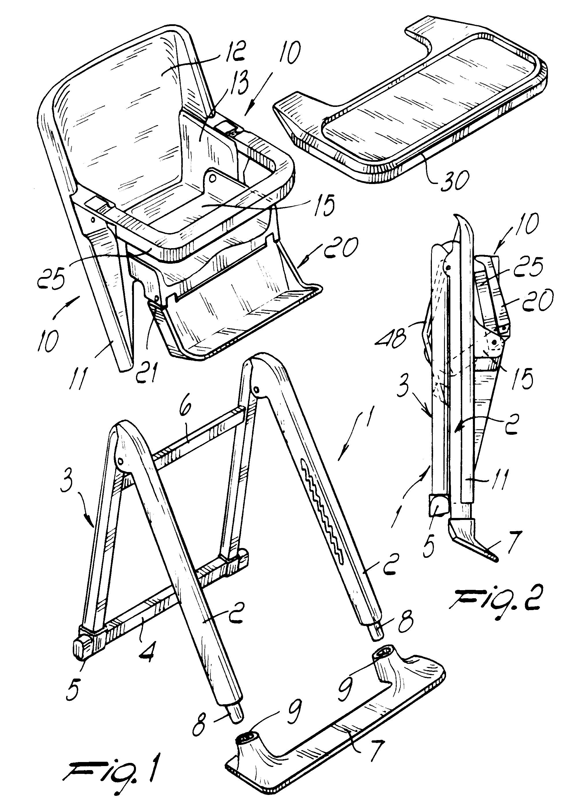 Patent EP0387764B1 Babys highchair with foldable structure – High Chair Dimensions