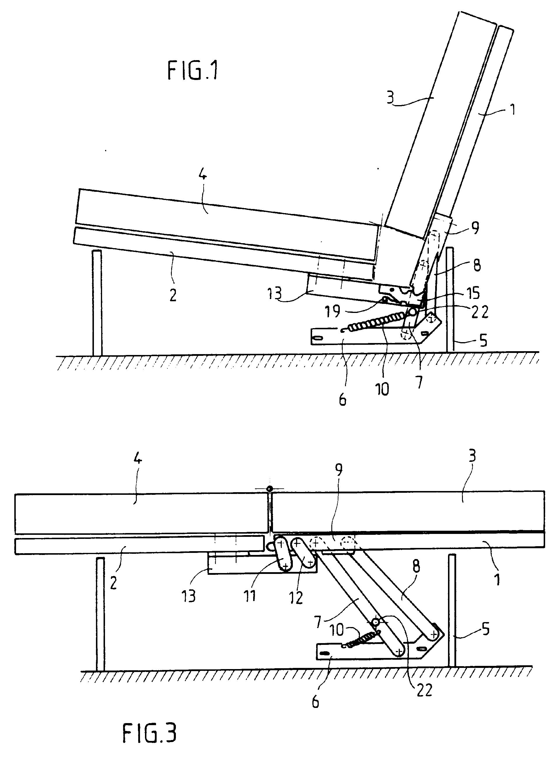 Patent ep0395531b1 m canisme d 39 articulation pour les l ments d 39 une - Mecanisme banquette clic clac ...