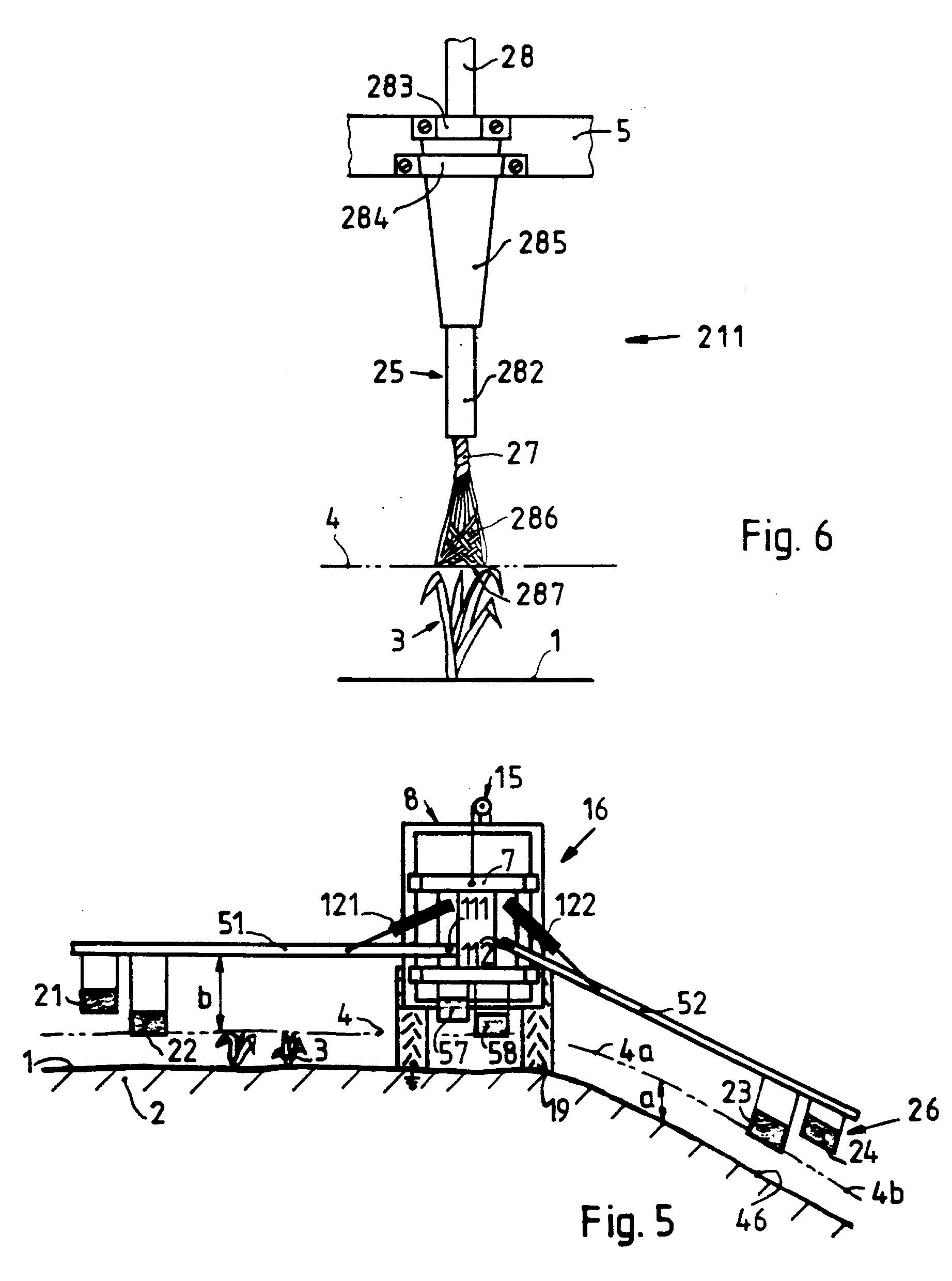 Patent EP0404861B1 - Device for treating crops with at least one ...