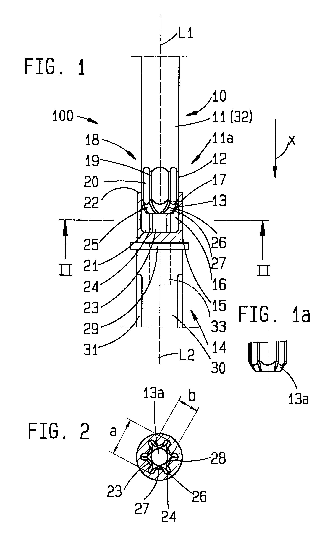 patent ep0467232a2 schraubendreher schraube google patents. Black Bedroom Furniture Sets. Home Design Ideas