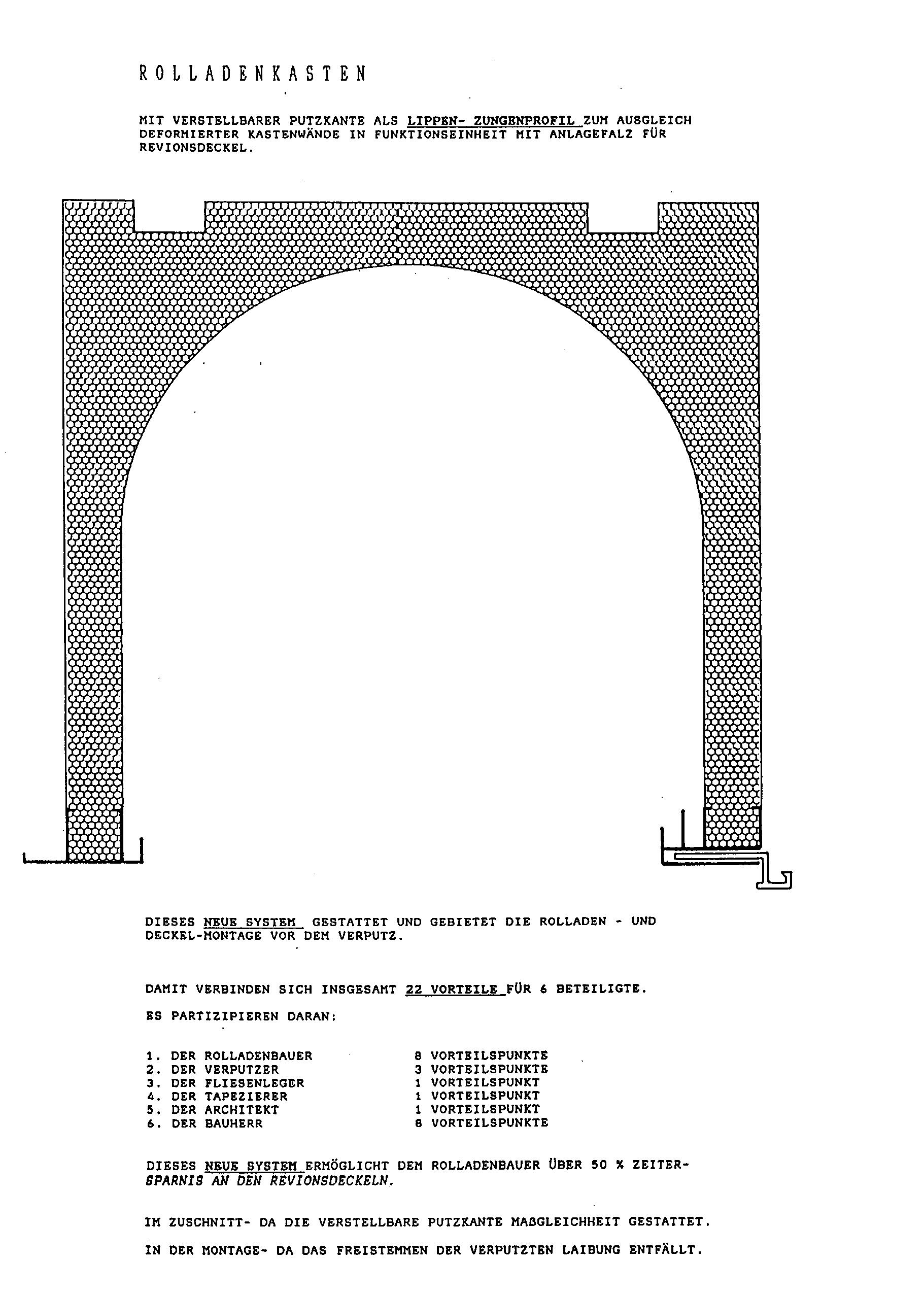 patent ep0468163a2 verstellbares putzkantenprofil f r rolladenkasten google patents. Black Bedroom Furniture Sets. Home Design Ideas