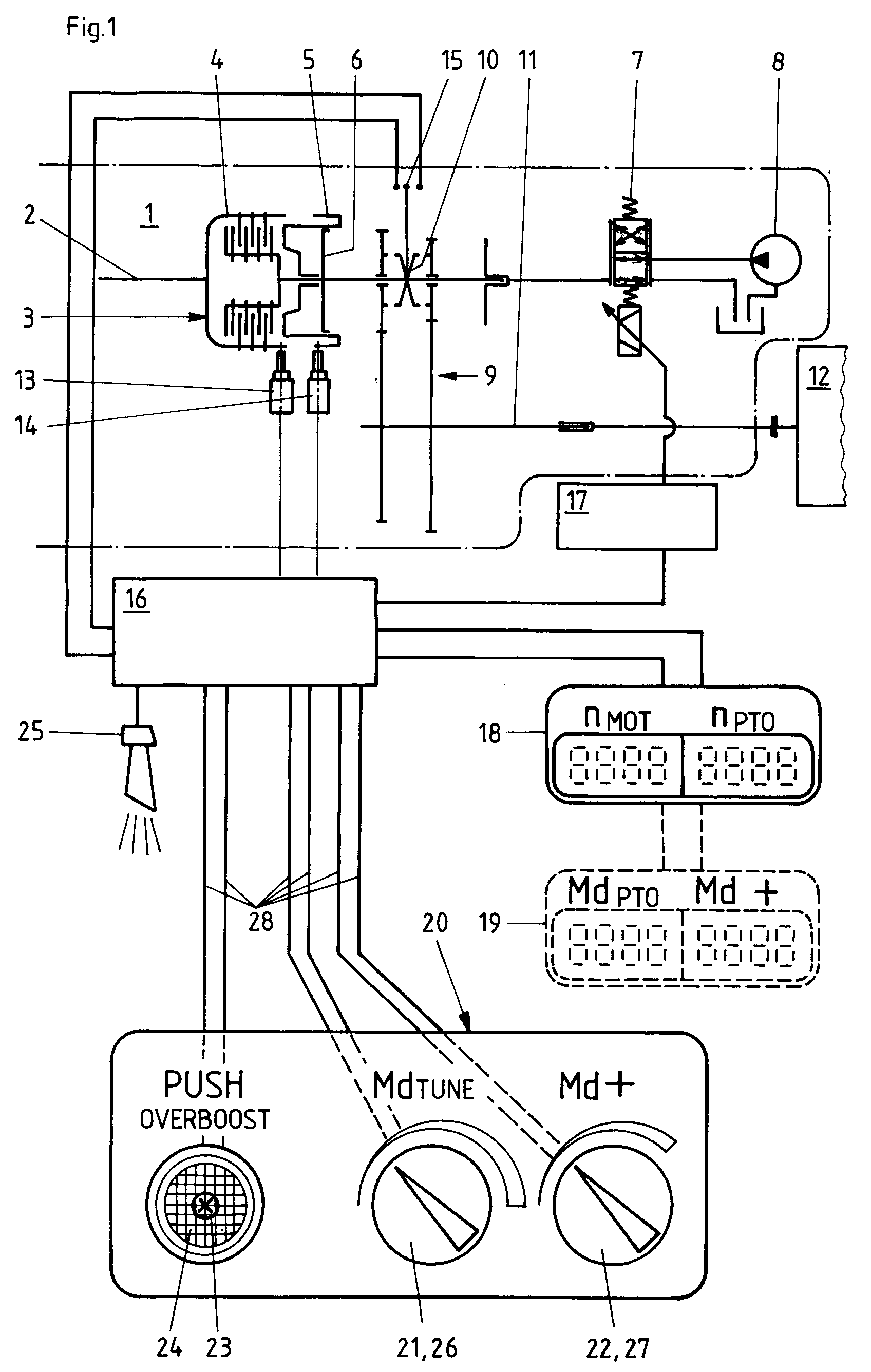 Patent EP0496326A2 - Tractor propulsion unit with overload protected ...