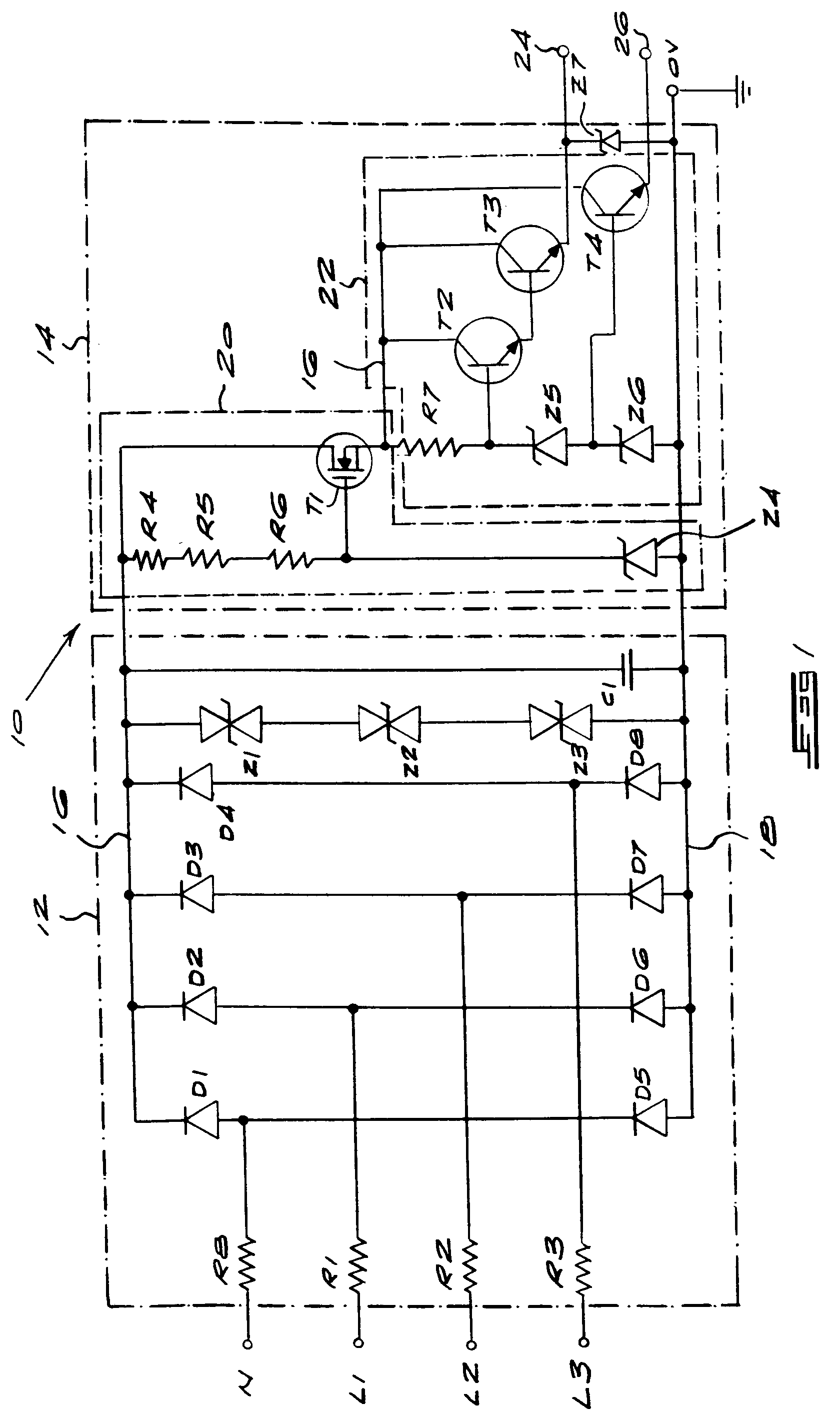 Patent Ep0497591a2 Regulated Power Supply Circuit Google Patents 18v Bipolar Is Shown As Above Drawing