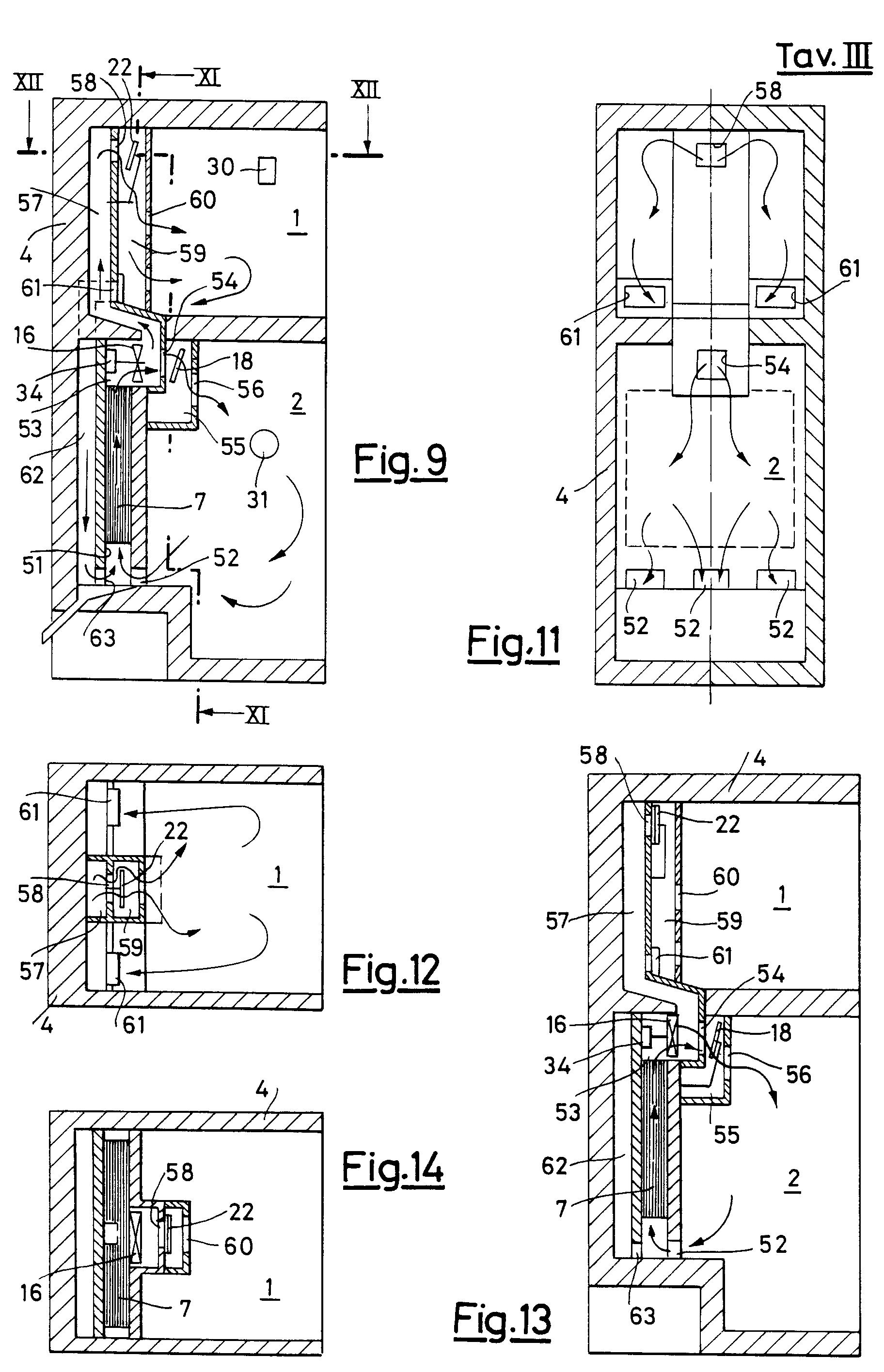 Patent EP0541172A2 Nofrost pluralcompartment refrigerator