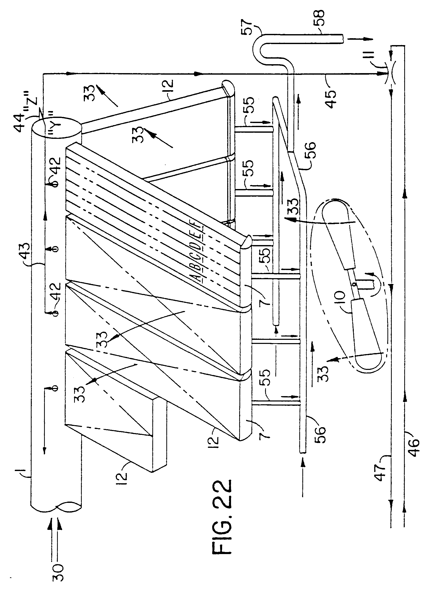 Patent EP A1 Air cooled vacuum steam condenser with flow