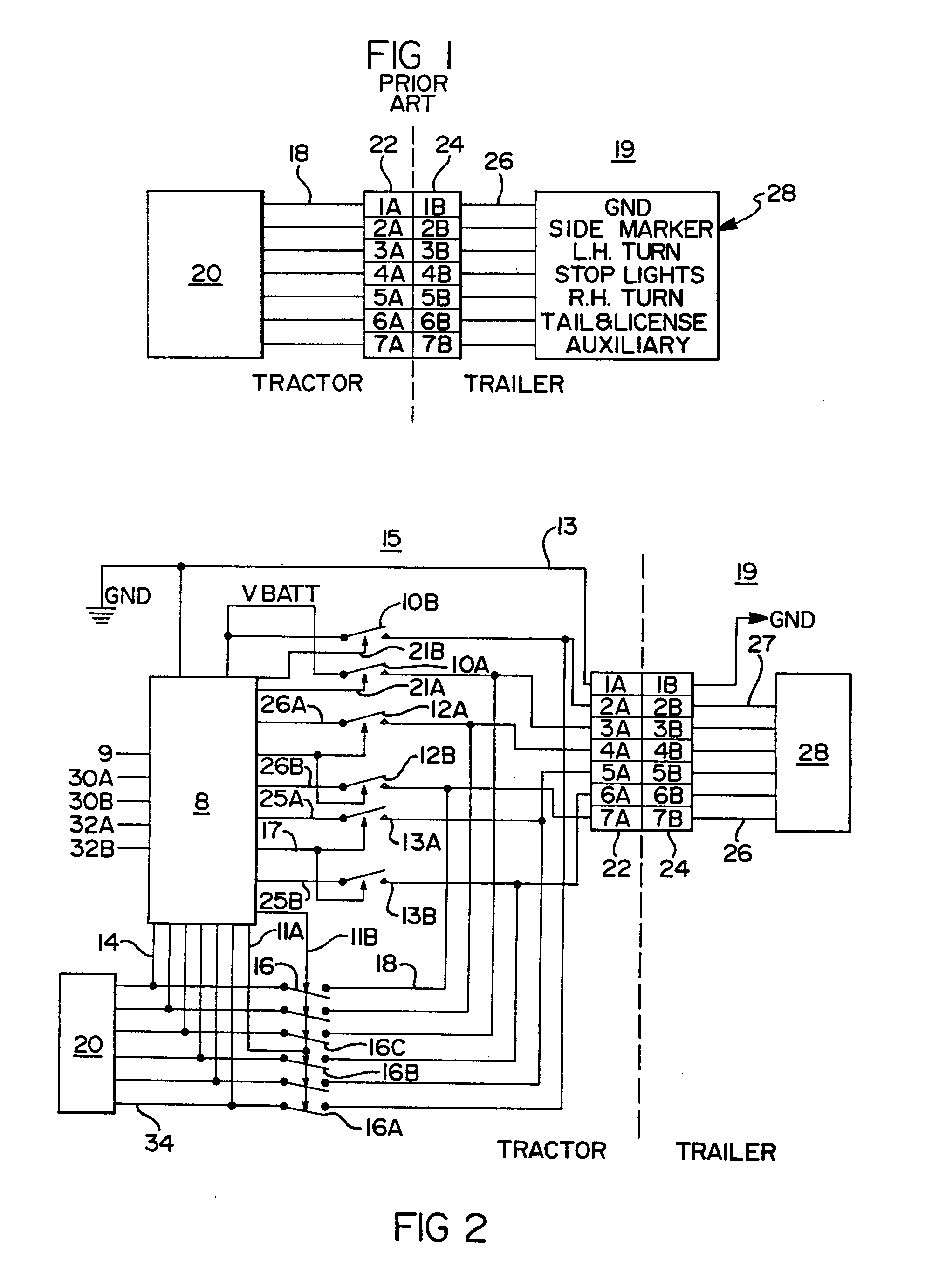patent ep0546370a1 - truck tractor and trailer electrical communication system