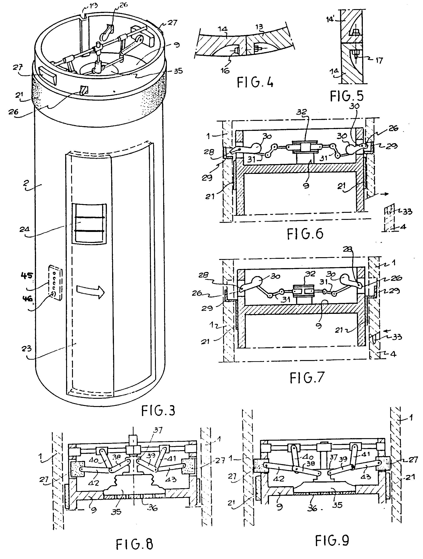3 Storey Commercial Building Floor Plan Patent Ep0550904b1 Pneumatic Vacuum Lift Elevator
