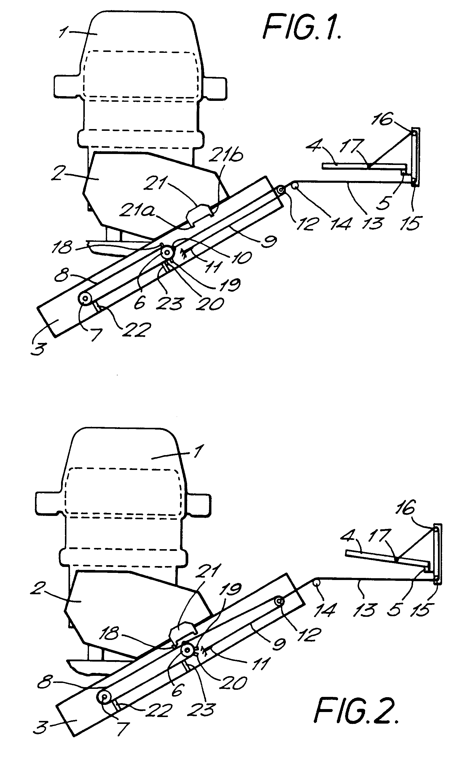 Patent EP B1 Platform mechanism for a stair lift Google