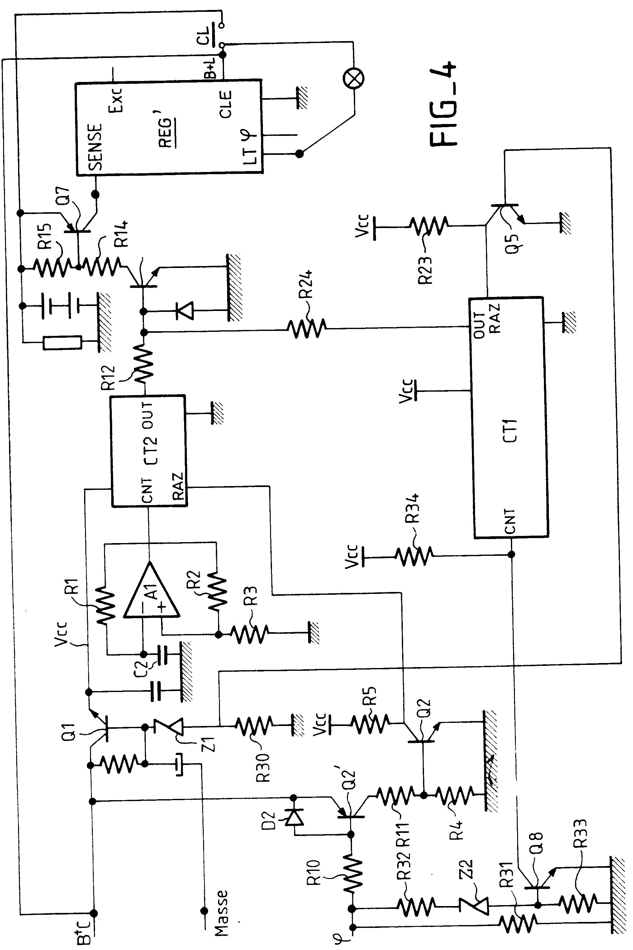 patent ep0561707a1 circuit d 39 alternateur r gulation modifi e au d marrage google patents. Black Bedroom Furniture Sets. Home Design Ideas