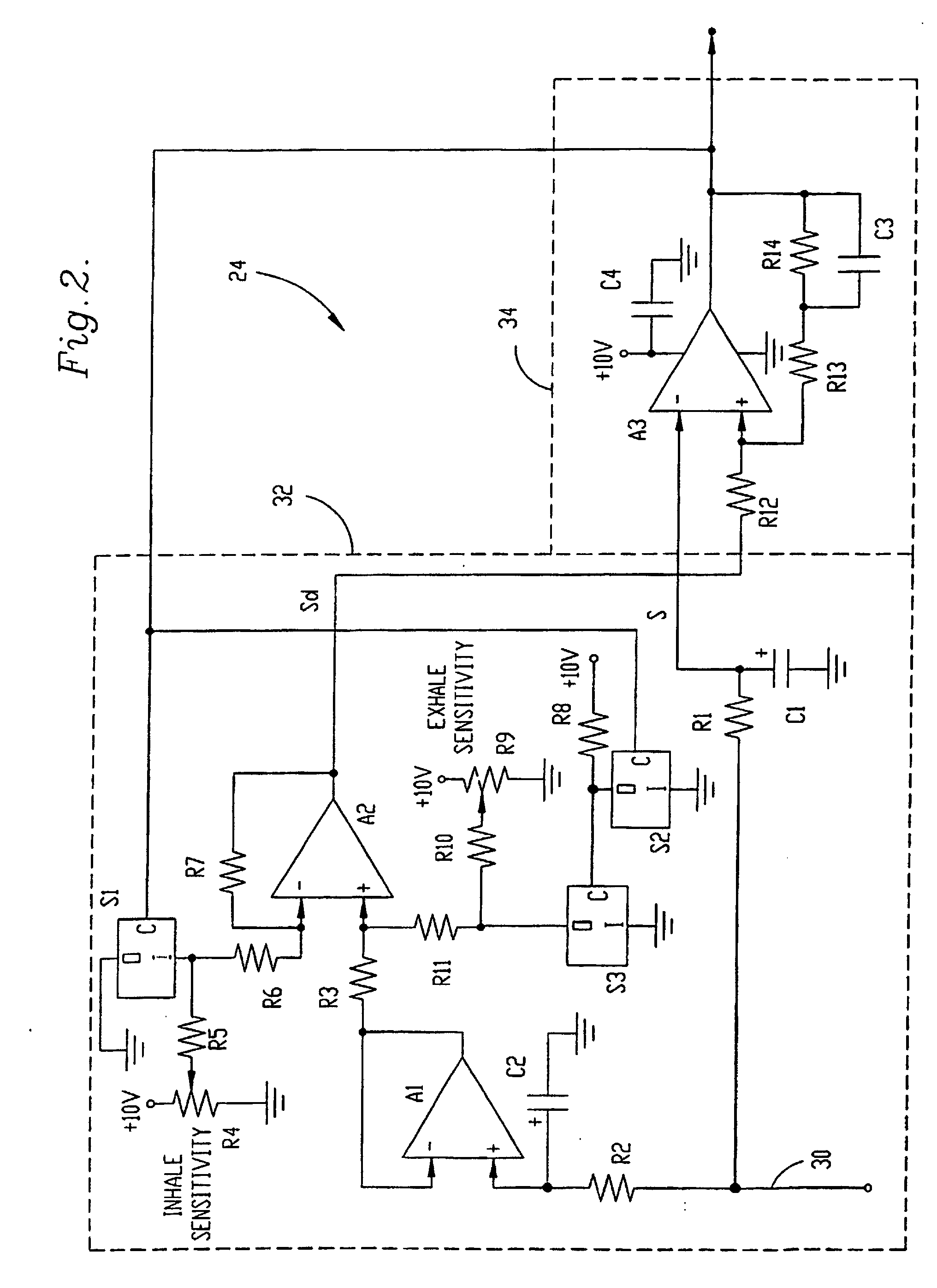 patent ep0606687b1 - inhalation  exhalation respiratory phase detection circuit