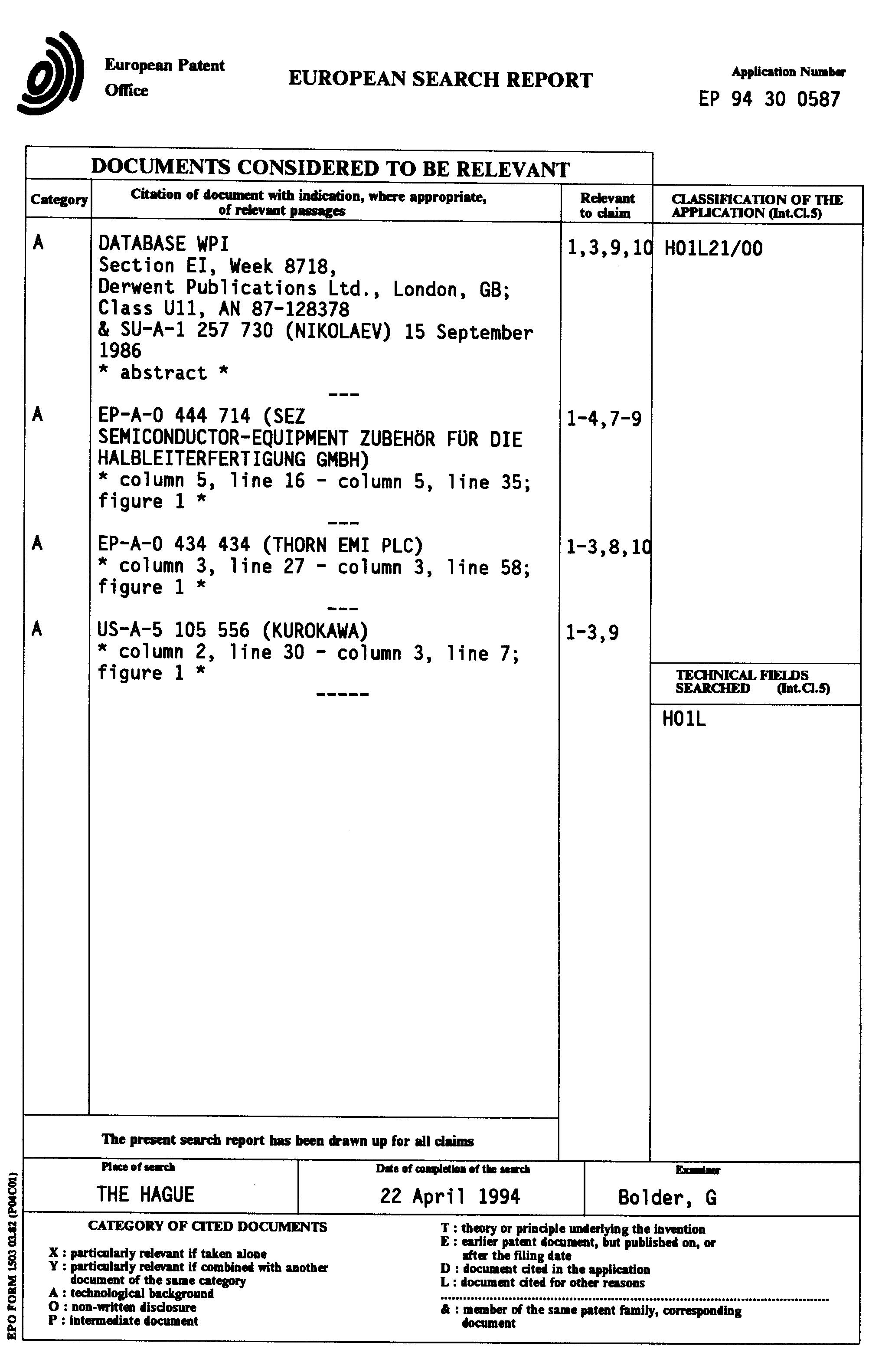 Patent EP0609069A1 - Verfahren zur Herstellung von