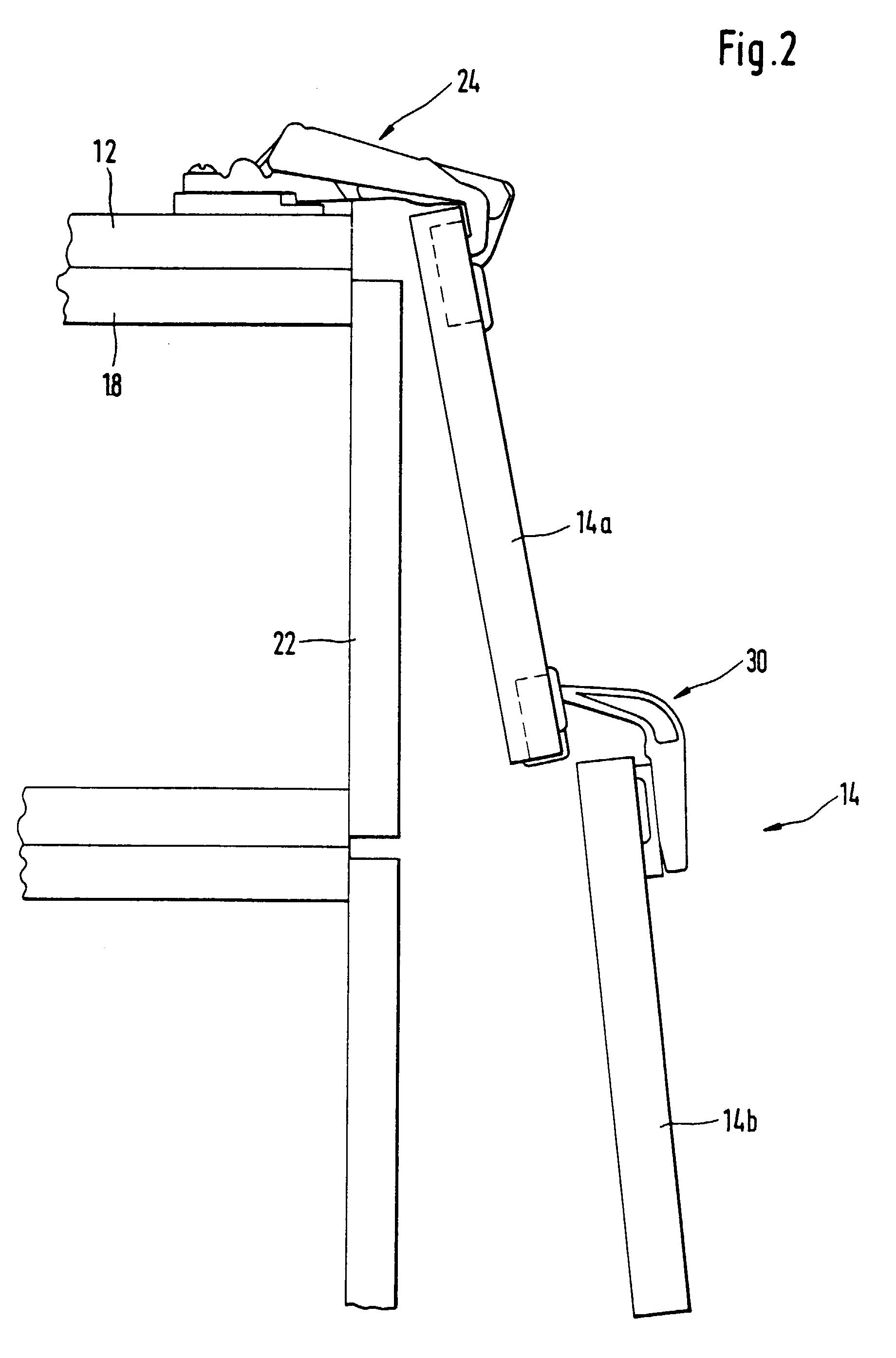 patent ep0623725b1 charni re pour armoire d 39 angle google patents. Black Bedroom Furniture Sets. Home Design Ideas