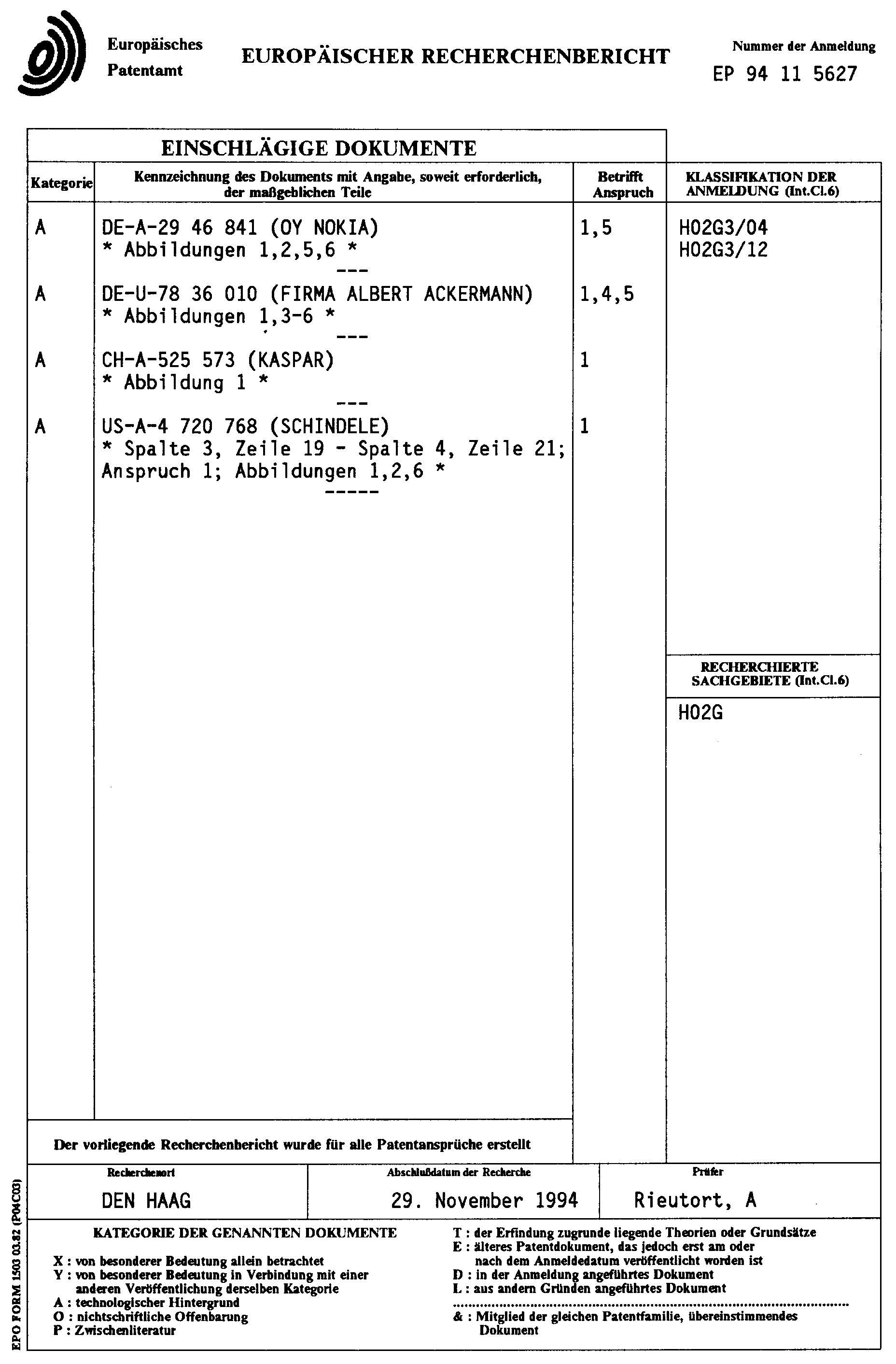 Patent EP0647999A1 - Canalisation pour installation électrique ...