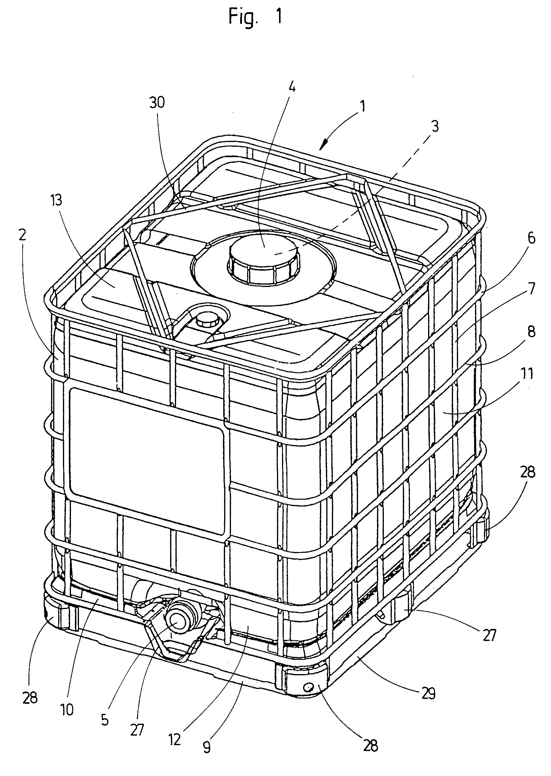 patent ep0656299a2 metallbeh lter f r den transport und die lagerung von fl ssigkeiten. Black Bedroom Furniture Sets. Home Design Ideas