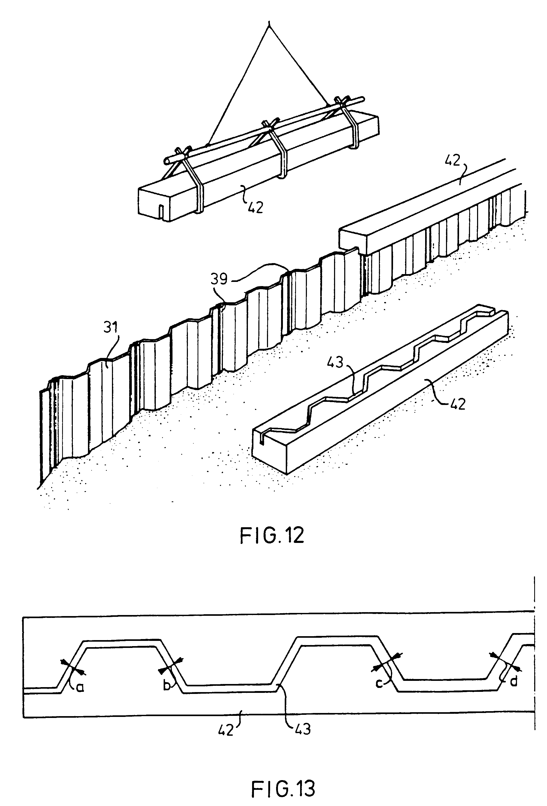 Patent Ep0678627b1 A Cover Section Of U Shaped Cross