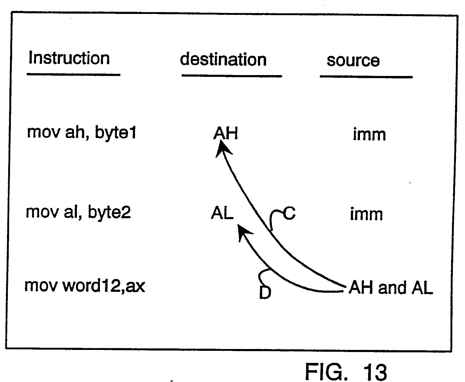 patent ep0679991a1 datenprozessor f r oferande mit variabler breite google patentsuche. Black Bedroom Furniture Sets. Home Design Ideas